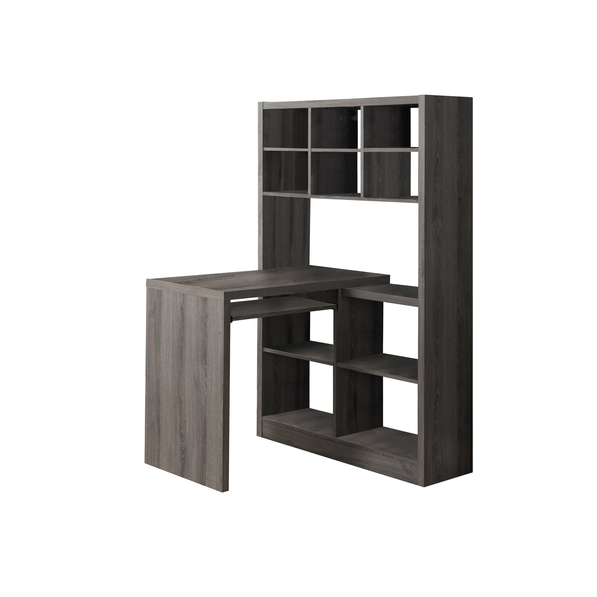 monarch specialties inc coates computer desk with storage reviews wayfair. Black Bedroom Furniture Sets. Home Design Ideas