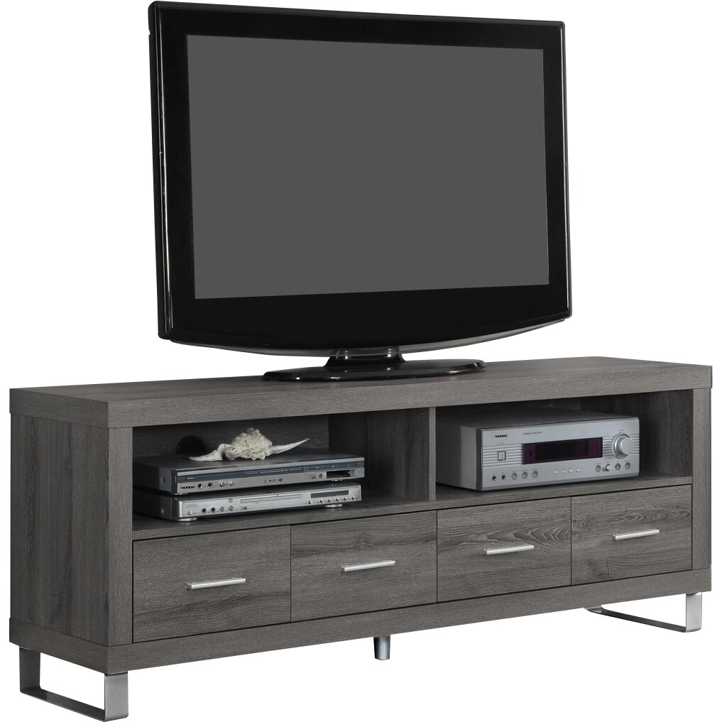 Monarch specialties inc tv stand reviews wayfair for Meuble console tv