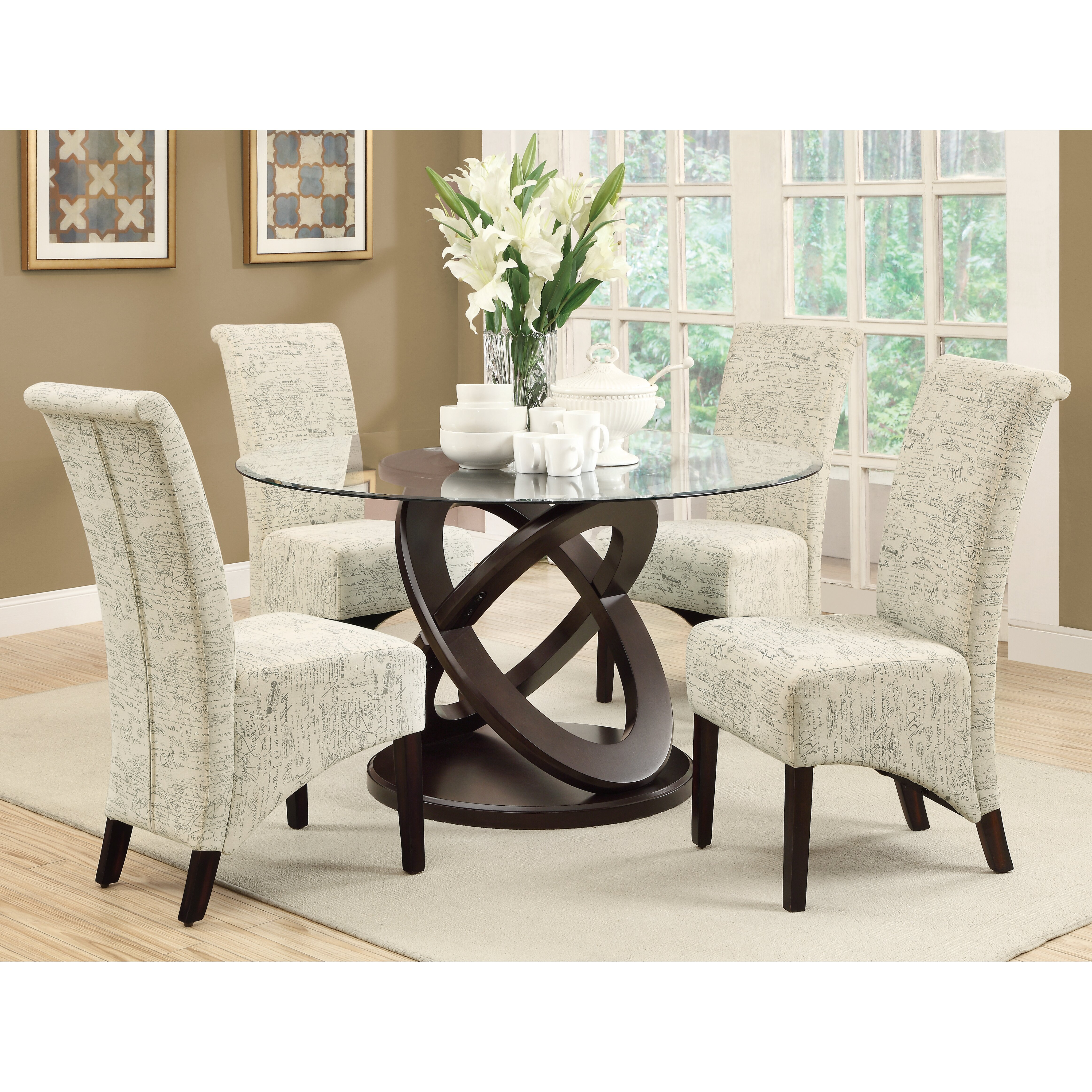 wayfair room monarch specialties inc 5 piece dining set - Wayfair Dining Chairs