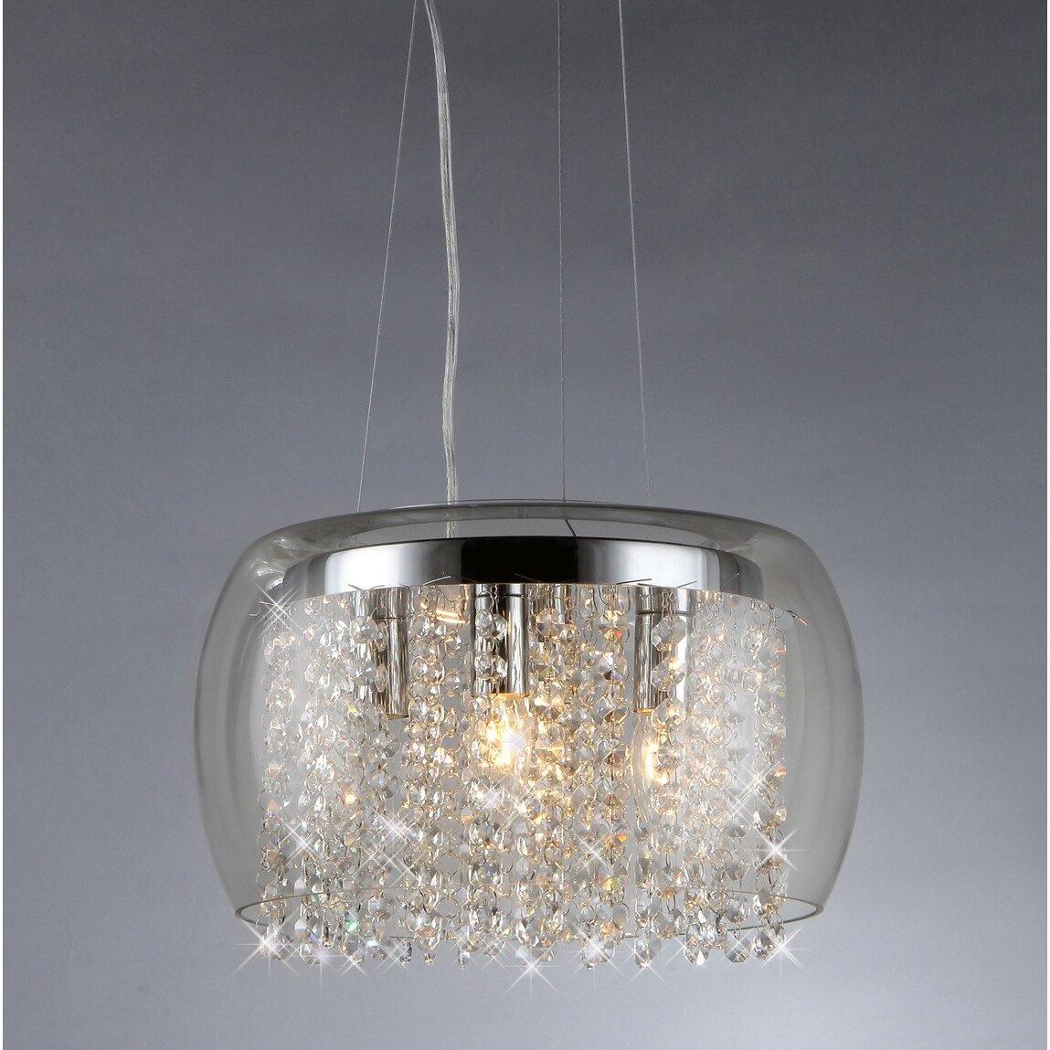 Warehouse of Tiffany Nereids 4Light Crystal Chandelier Reviews – Crystal Chandelier Lights