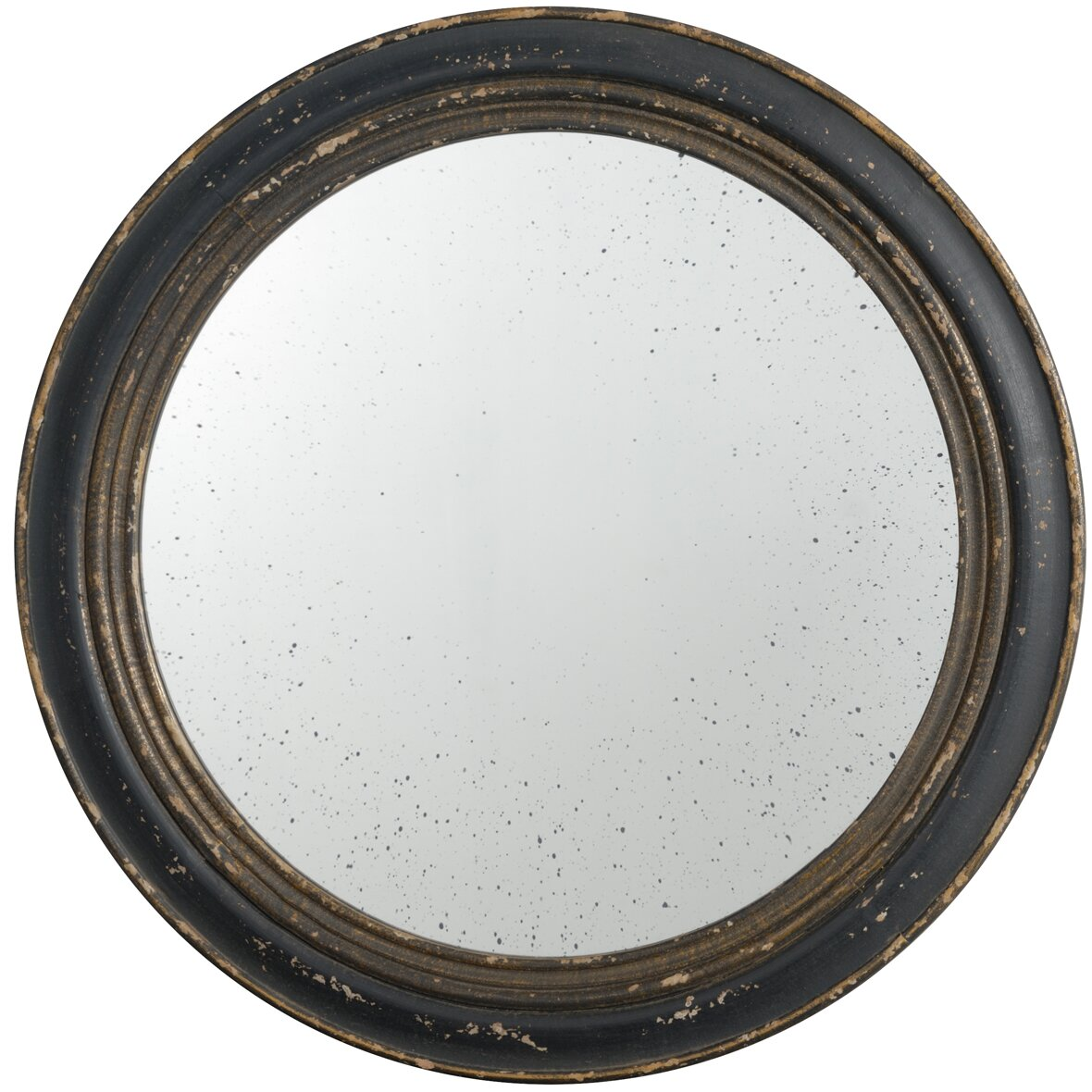 A b home round wall mirror reviews wayfair for Miroir 3 pans
