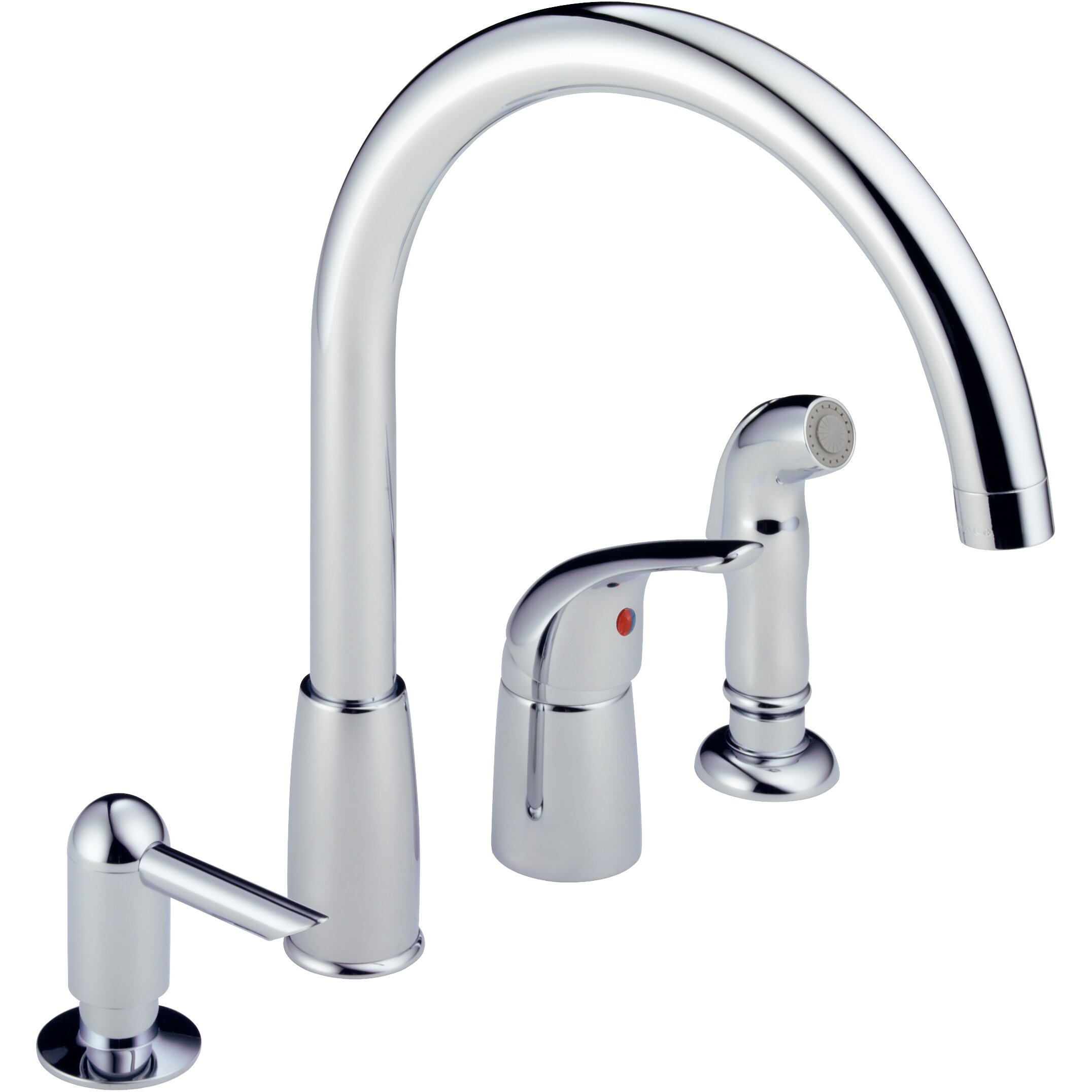 Peerless Kitchen Faucet With Soap Dispenser