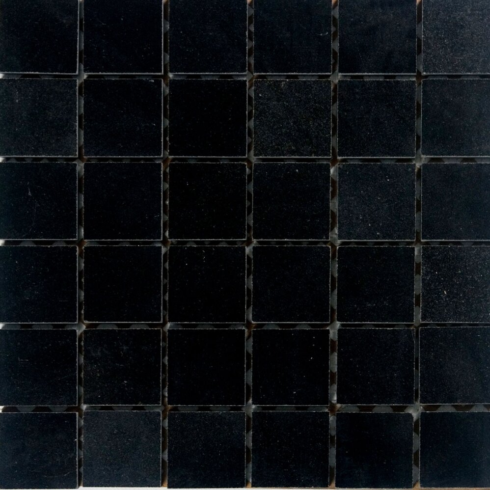 Architectural surfaces 2 quot x 2 quot granite mosaic tile in absolute black