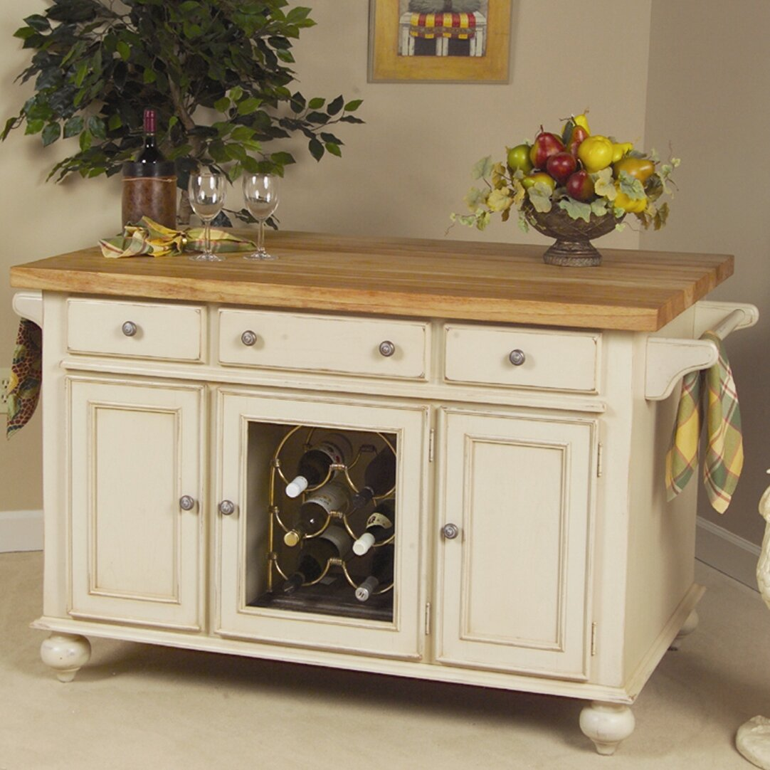 kaco signature kitchen island with butcher block top 47 beautiful country kitchen designs pictures