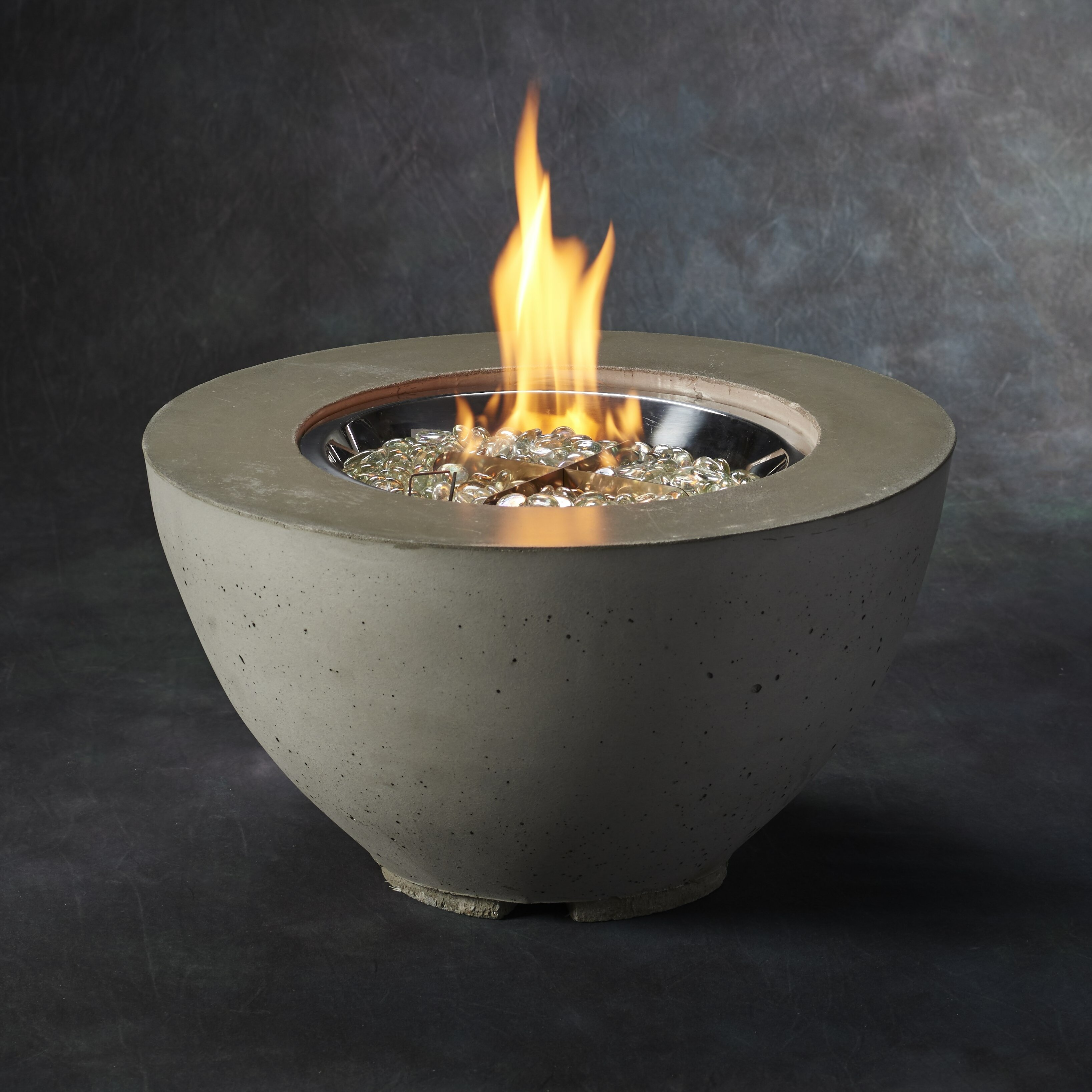 the outdoor greatroom company cove concrete gas fire pit table wayfair. Black Bedroom Furniture Sets. Home Design Ideas