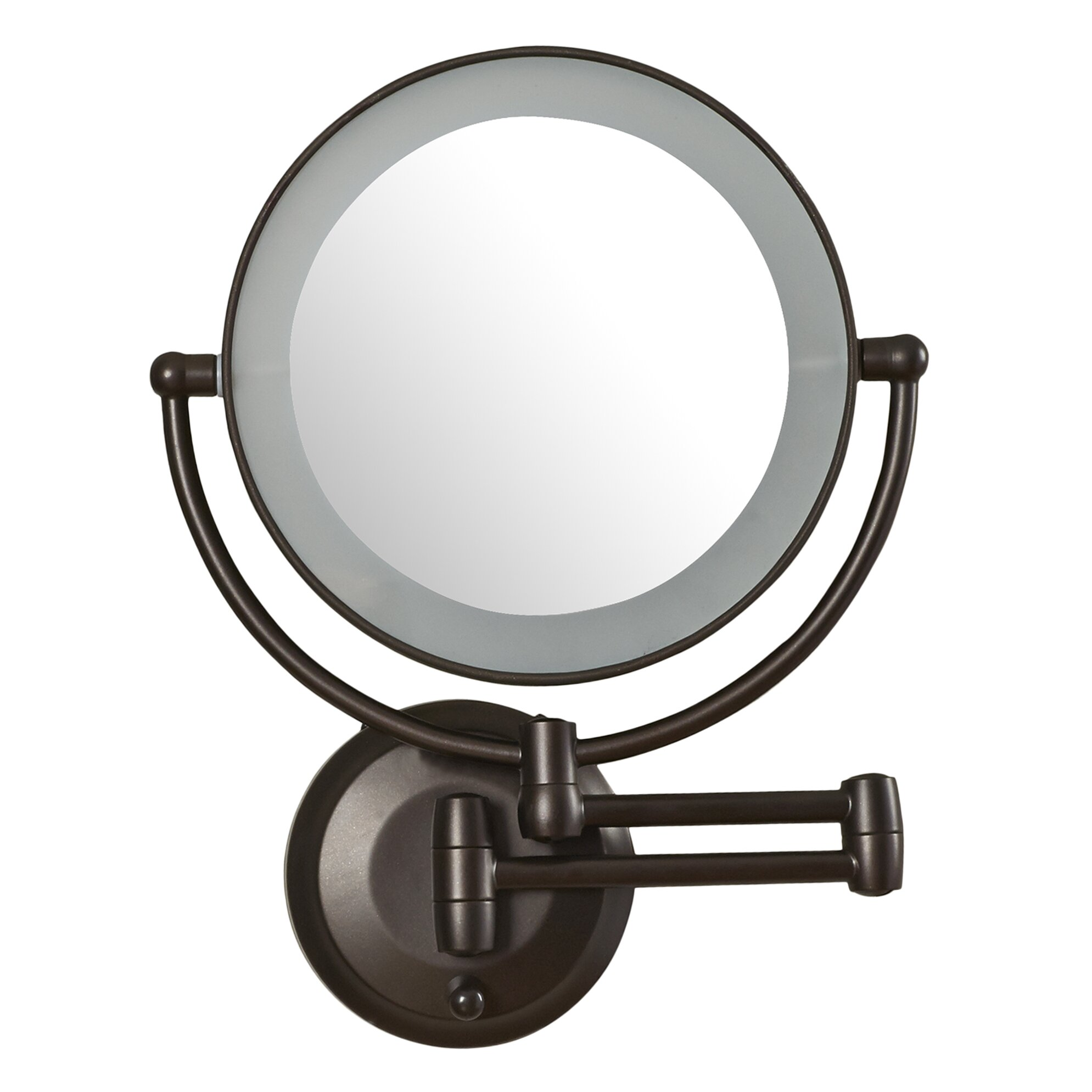Zadro Wall Mounted Lighted Makeup Mirror: Zadro LED Lighted 1X/10X Magnification Mount Wall Mirror,Lighting