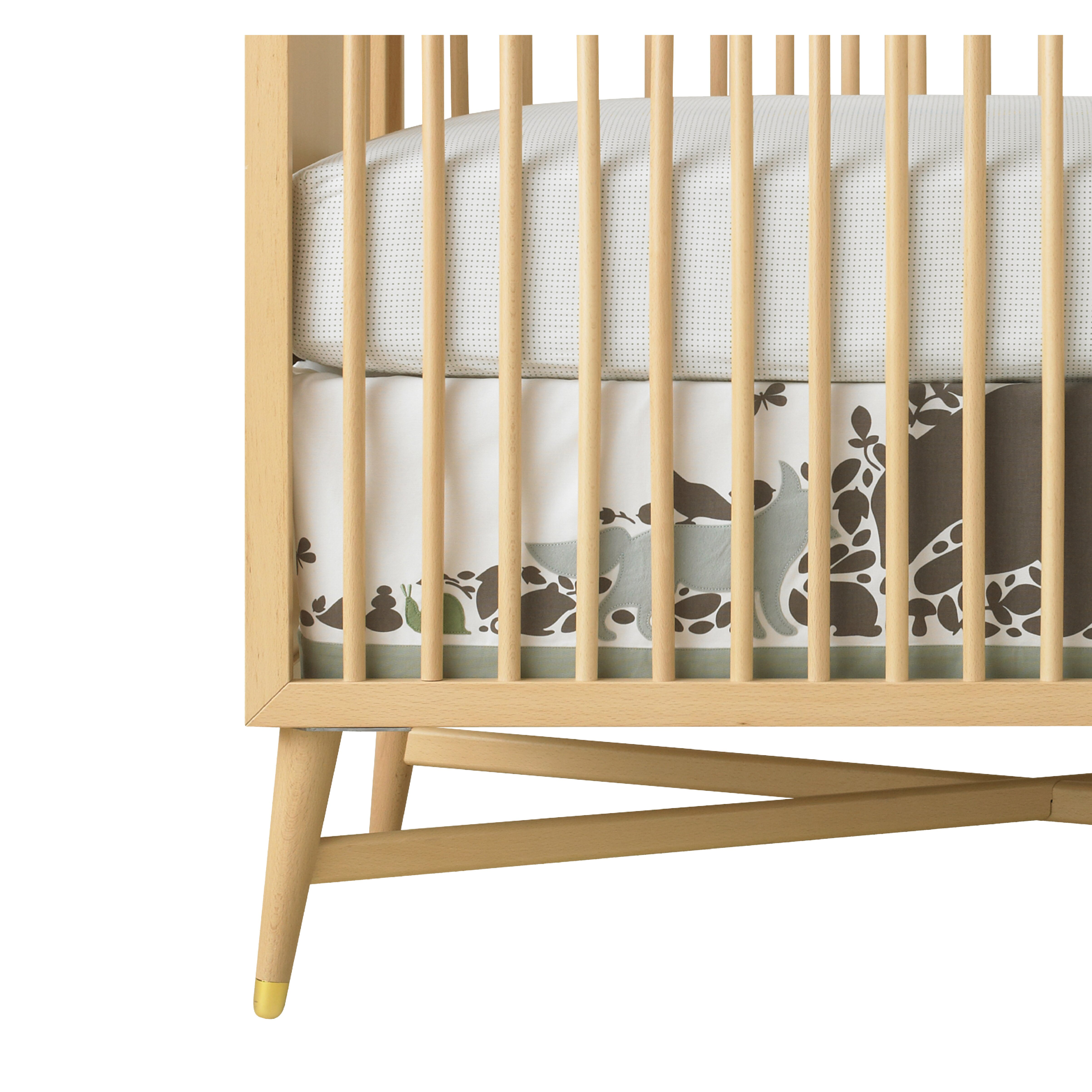 Baby cribs lexington ky - Dwellstudio Woodland Tumble Pin Dot Fitted Crib Sheet
