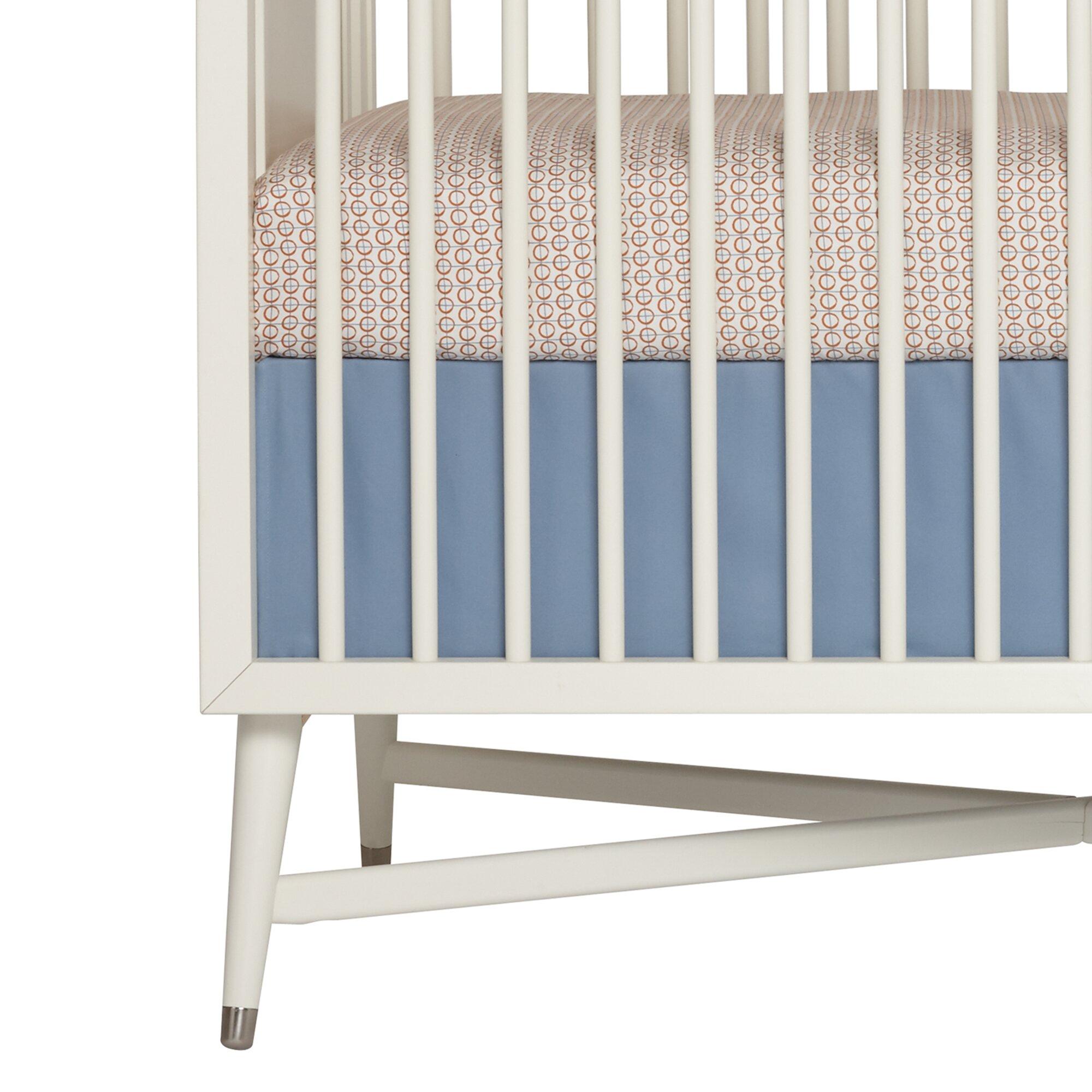 dwellstudio flight denim crib skirt reviews dwellstudio