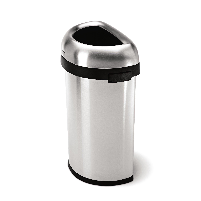Black Kitchen Trash Cans Modern Trash Cans Wastebaskets Allmodern