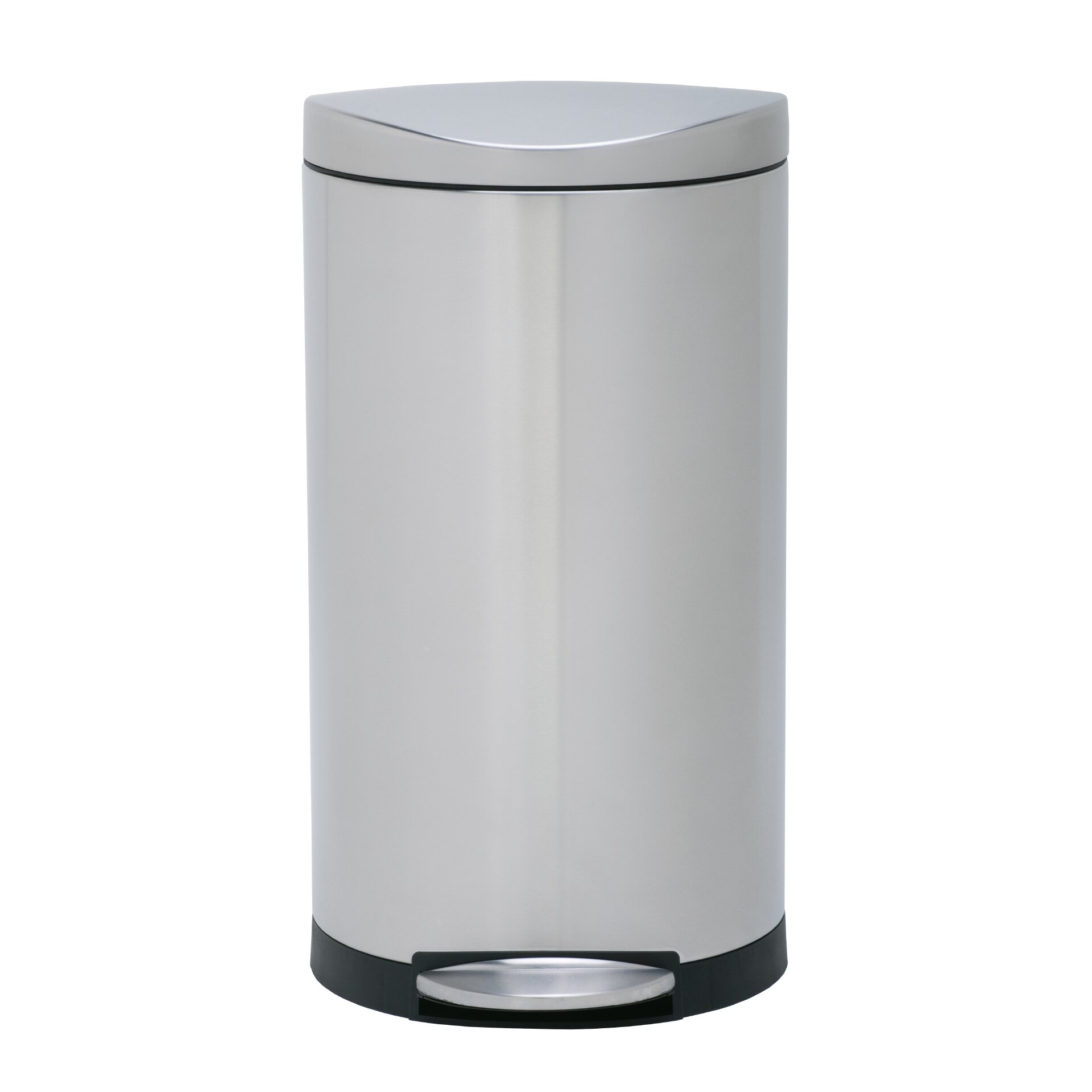 simplehuman 7 9 gallon step on stainless steel trash can reviews wayfair. Black Bedroom Furniture Sets. Home Design Ideas
