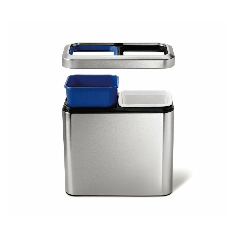 simplehuman 5 3 Gallon Stainless Steel Trash Can. simplehuman 5 3 Gallon Stainless Steel Trash Can   Reviews   Wayfair