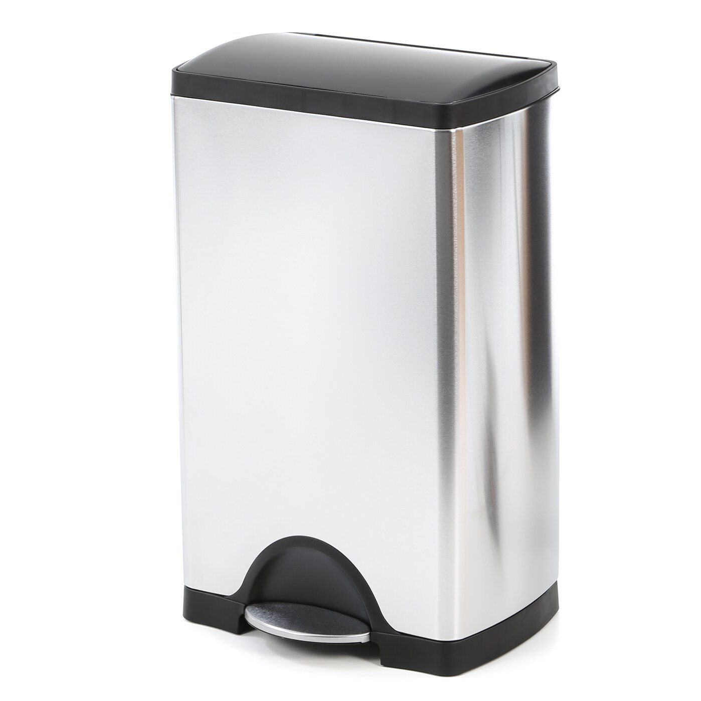 simplehuman 10 Gallon Step On Stainless Steel Trash Can. simplehuman 10 Gallon Step On Stainless Steel Trash Can   Reviews
