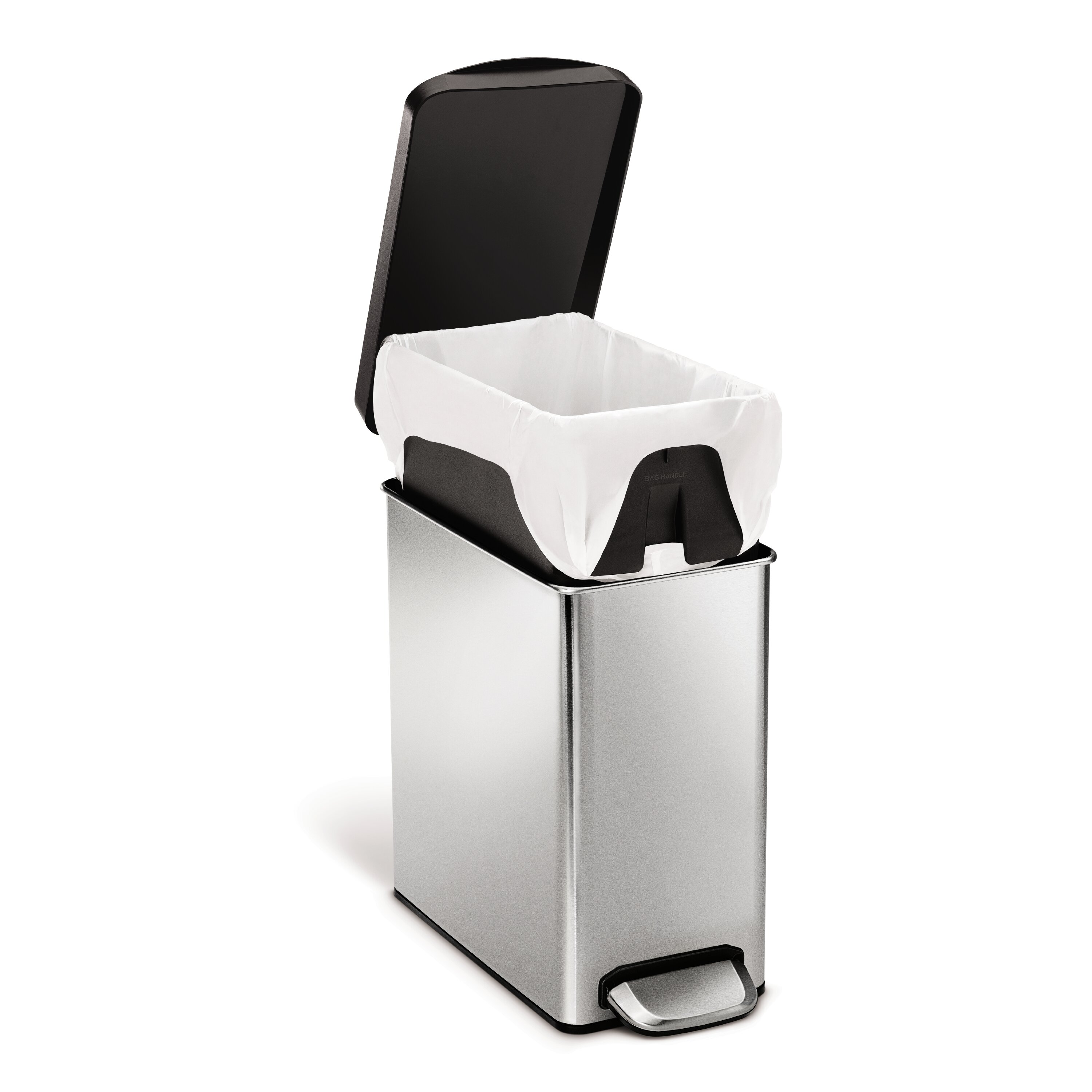 simplehuman Profile 2 6 Gallon Step On Stainless Steel Trash Can. simplehuman Profile 2 6 Gallon Step On Stainless Steel Trash Can