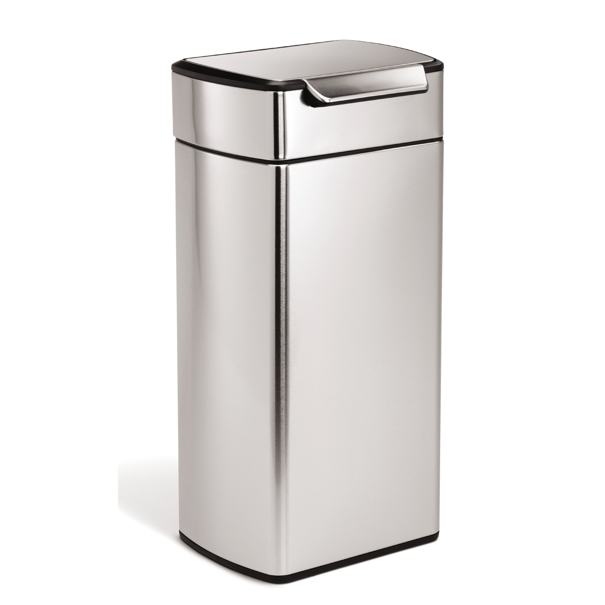 simplehuman 7 9 gallon touch top stainless steel trash can reviews wayfair. Black Bedroom Furniture Sets. Home Design Ideas