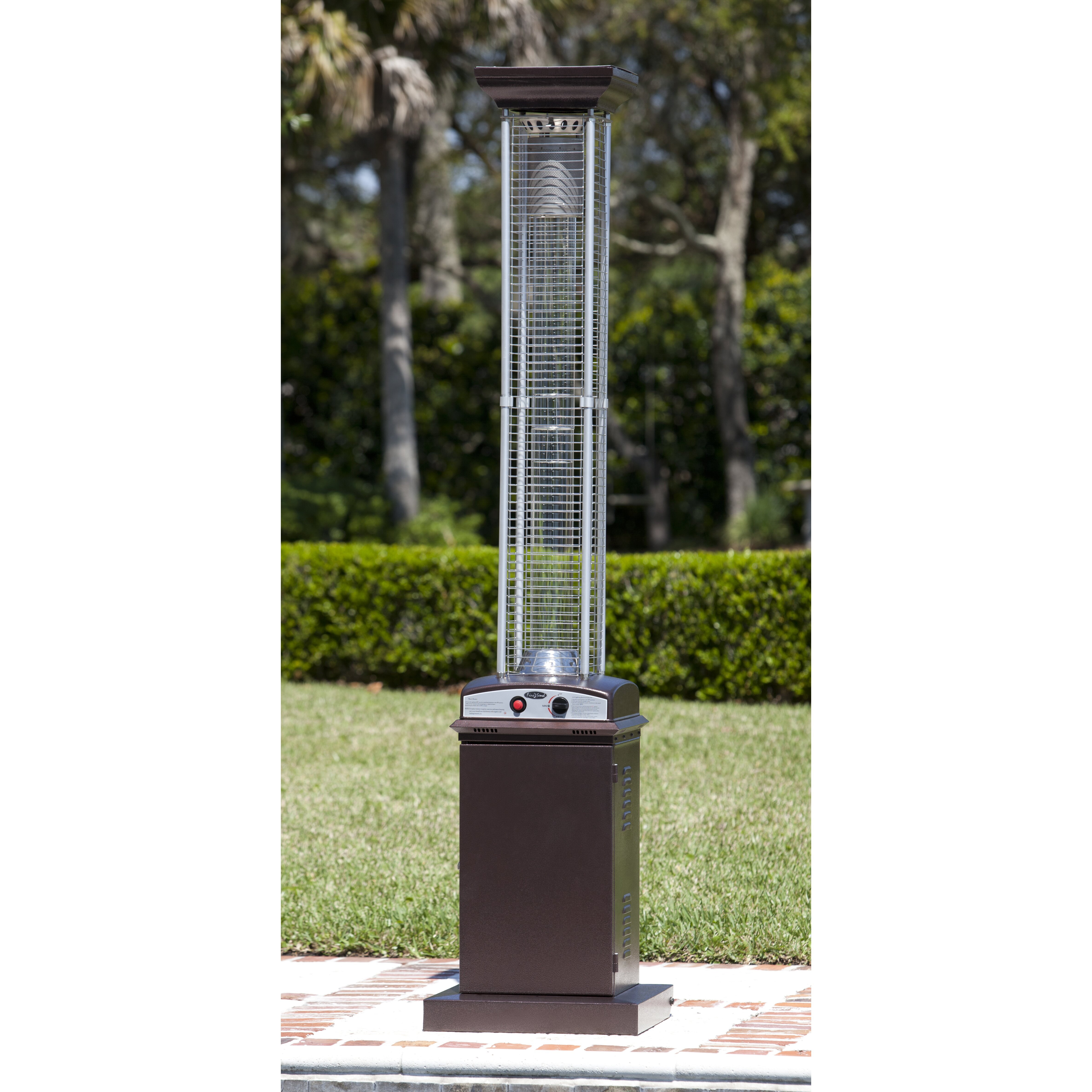 Fire Sense Hammered Square Flame 46000 BTU Propane Patio Heater – Fire Sense Patio Heater