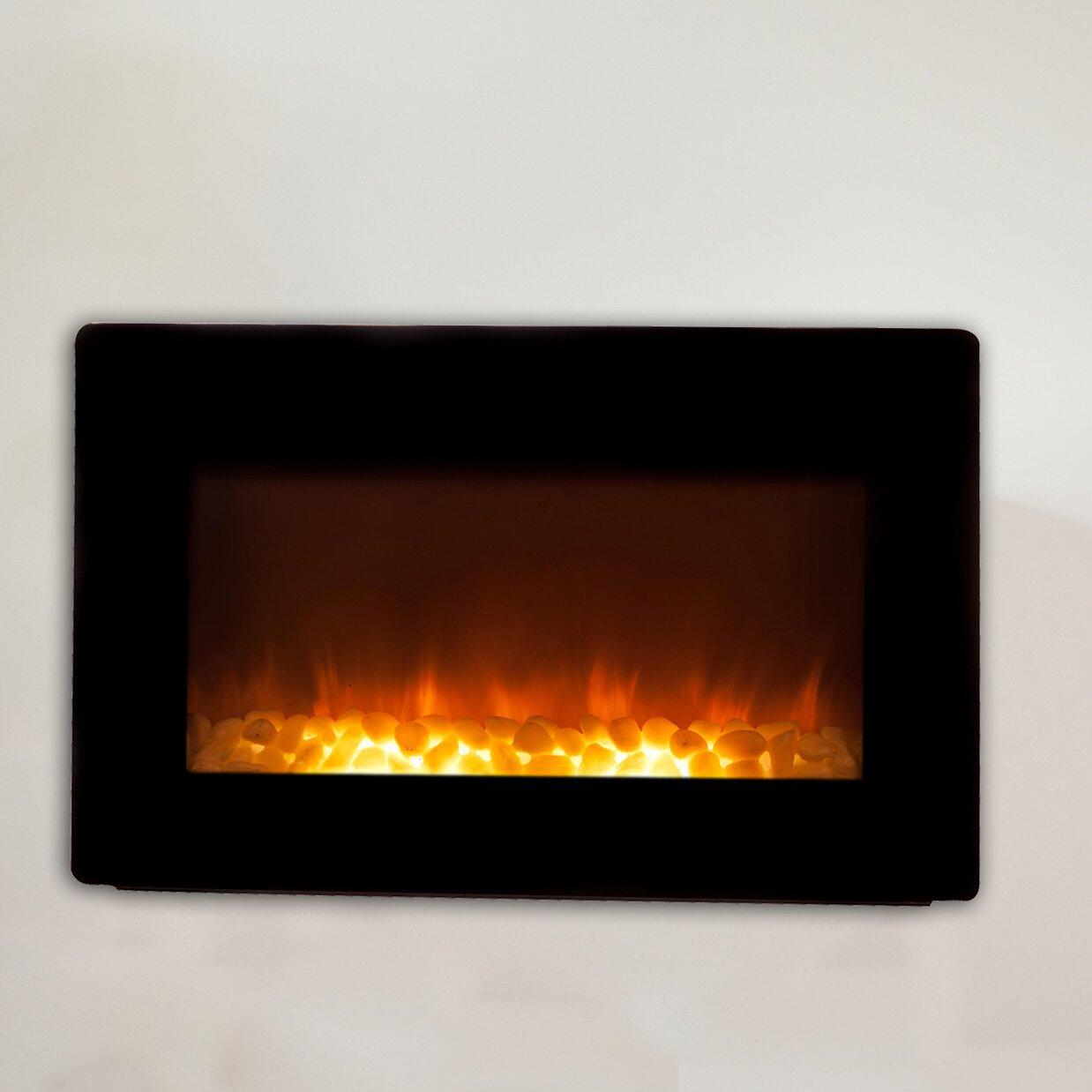fire sense wall mount electric fireplace reviews wayfair fir