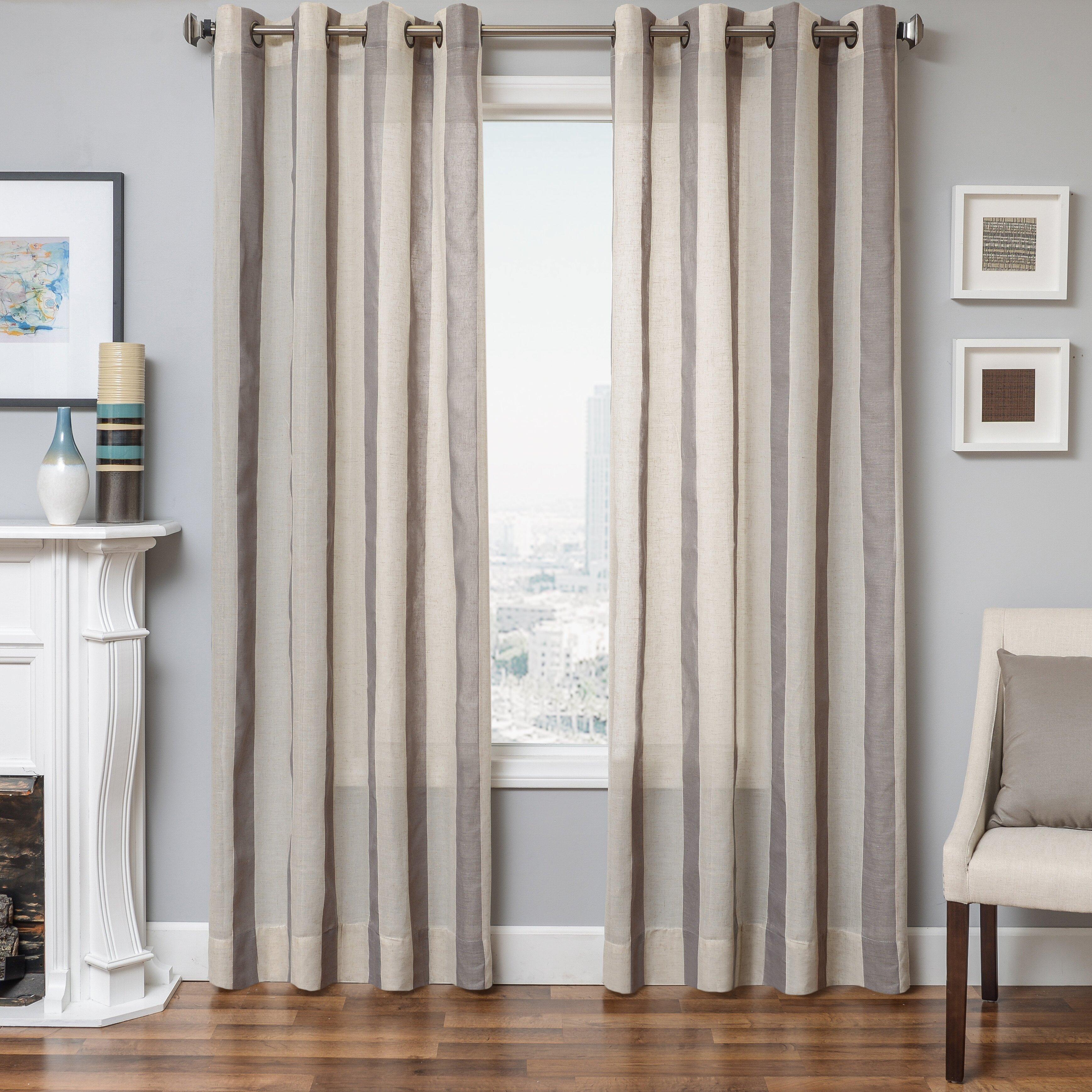 Softline Home Fashions Hamilton Striped Single Curtain Panel