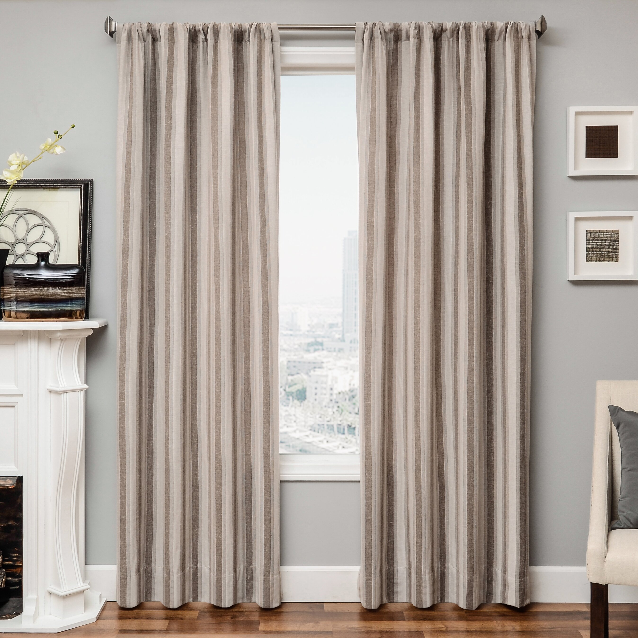 Softline Home Fashions Ezra Single Curtain Panel