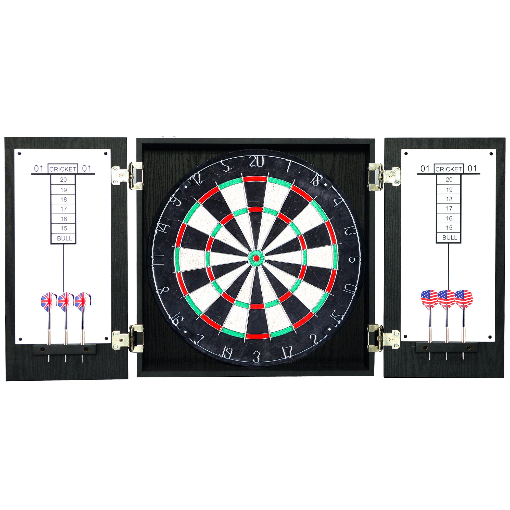 Dart Board Cabinet With Chalkboard Hathaway Games Winchester Dartboard And Cabinet Reviews Wayfair