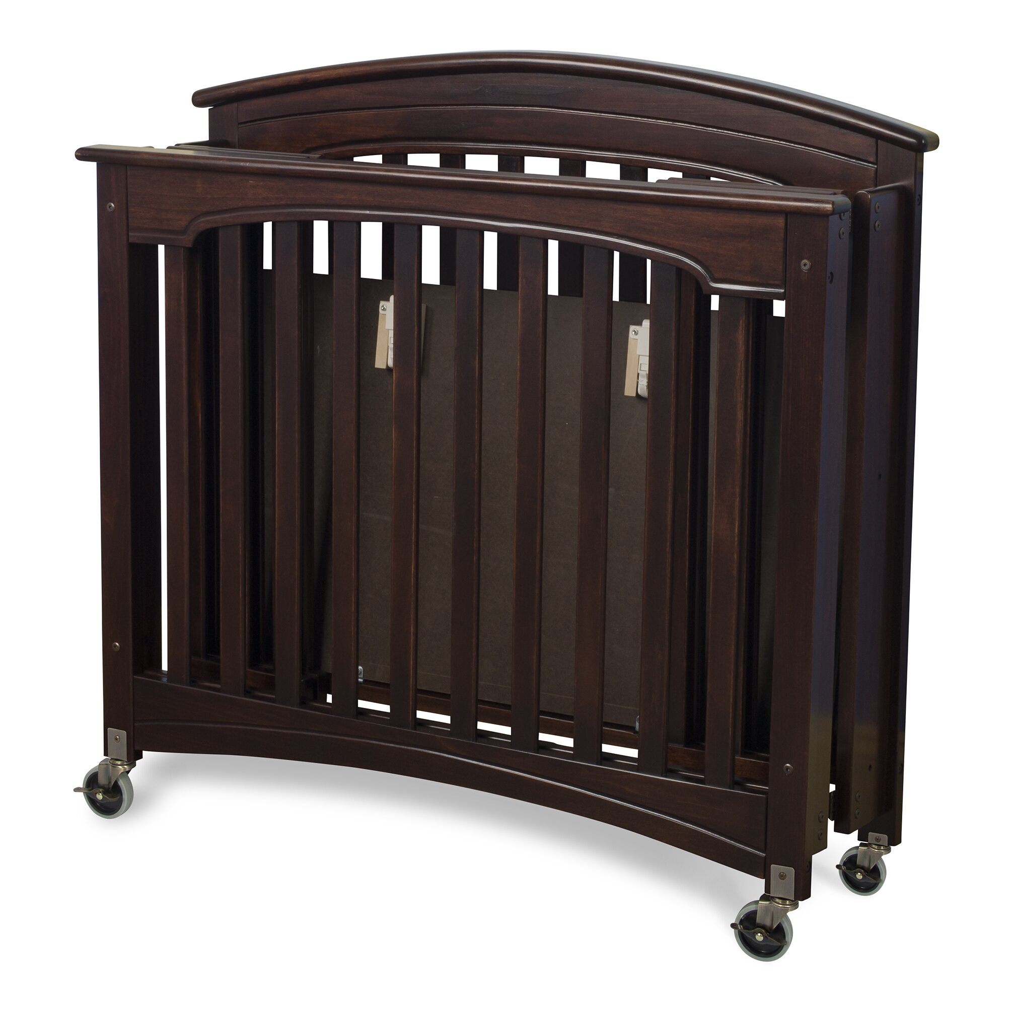 Used crib for sale toronto - Foundations Royale Fixed Side Folding Compact Convertible Crib With Mattress