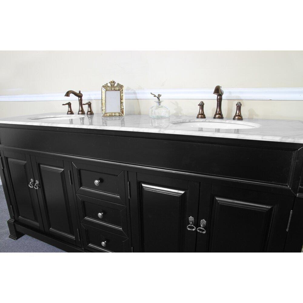 Bathroom Vanity Black Bellaterra Home 72 Double Bathroom Vanity Set Reviews Wayfair