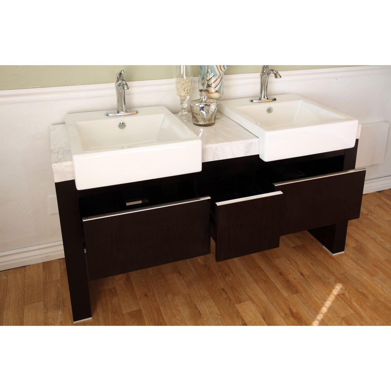 Bellaterra Home Essex 58 Double Bathroom Vanity Set Reviews – 58 Bathroom Vanity