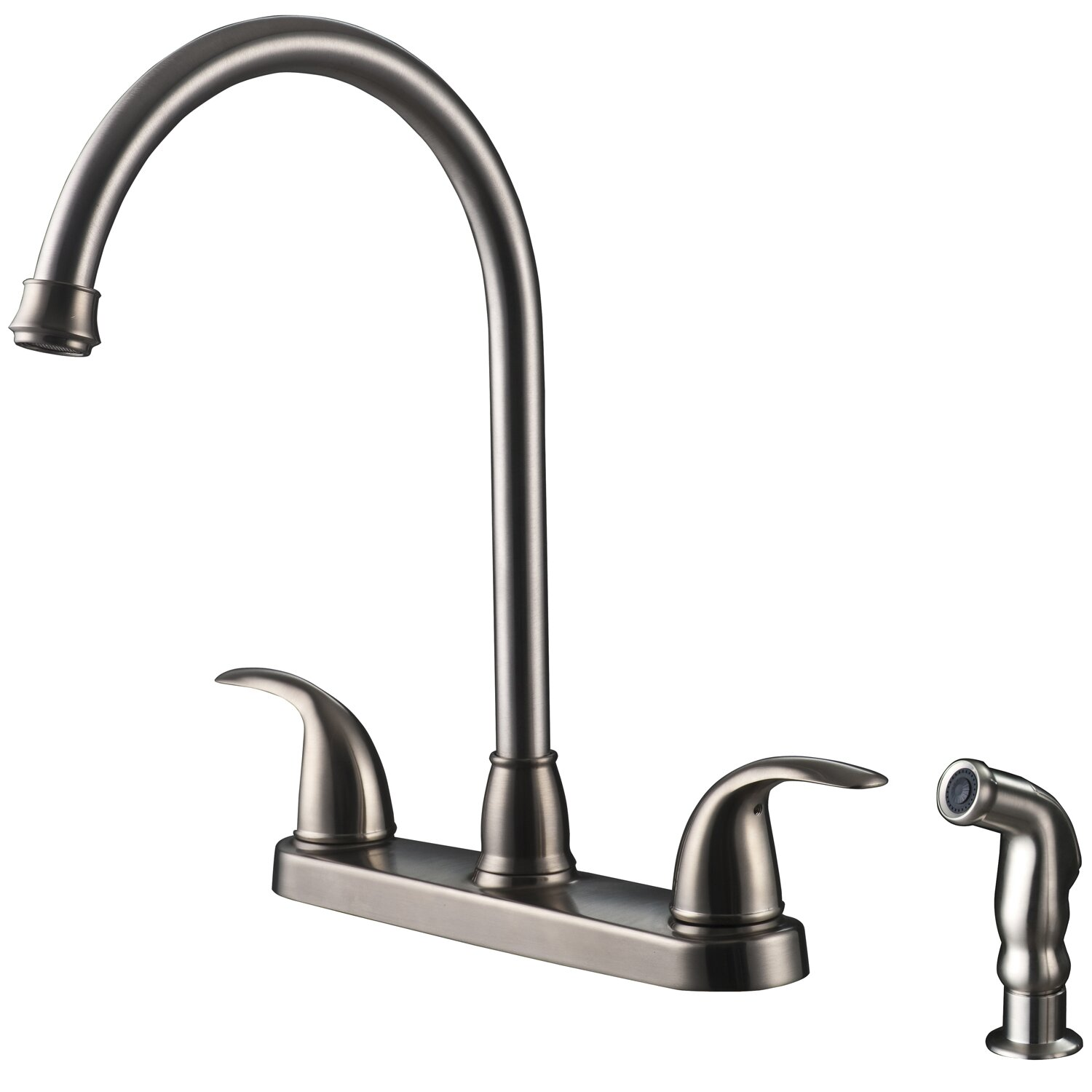Double Handle Kitchen Faucet Ultra Faucets Two Handle Centerset Kitchen Faucet With Matching