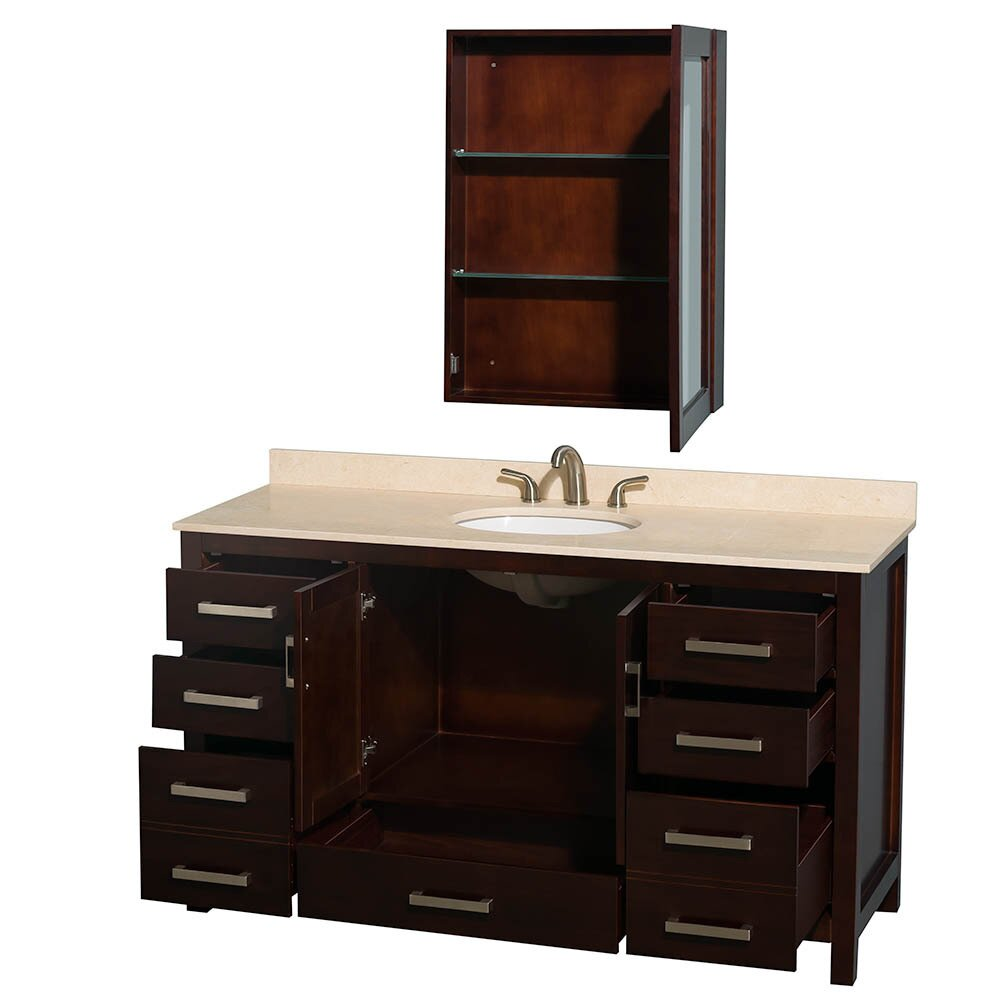 "Wyndham Bathroom Vanities: Wyndham Collection Sheffield 60"" Single Bathroom Vanity"