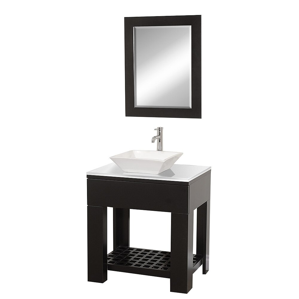"wyndham collection zen ii 30"" single bathroom vanity set with"
