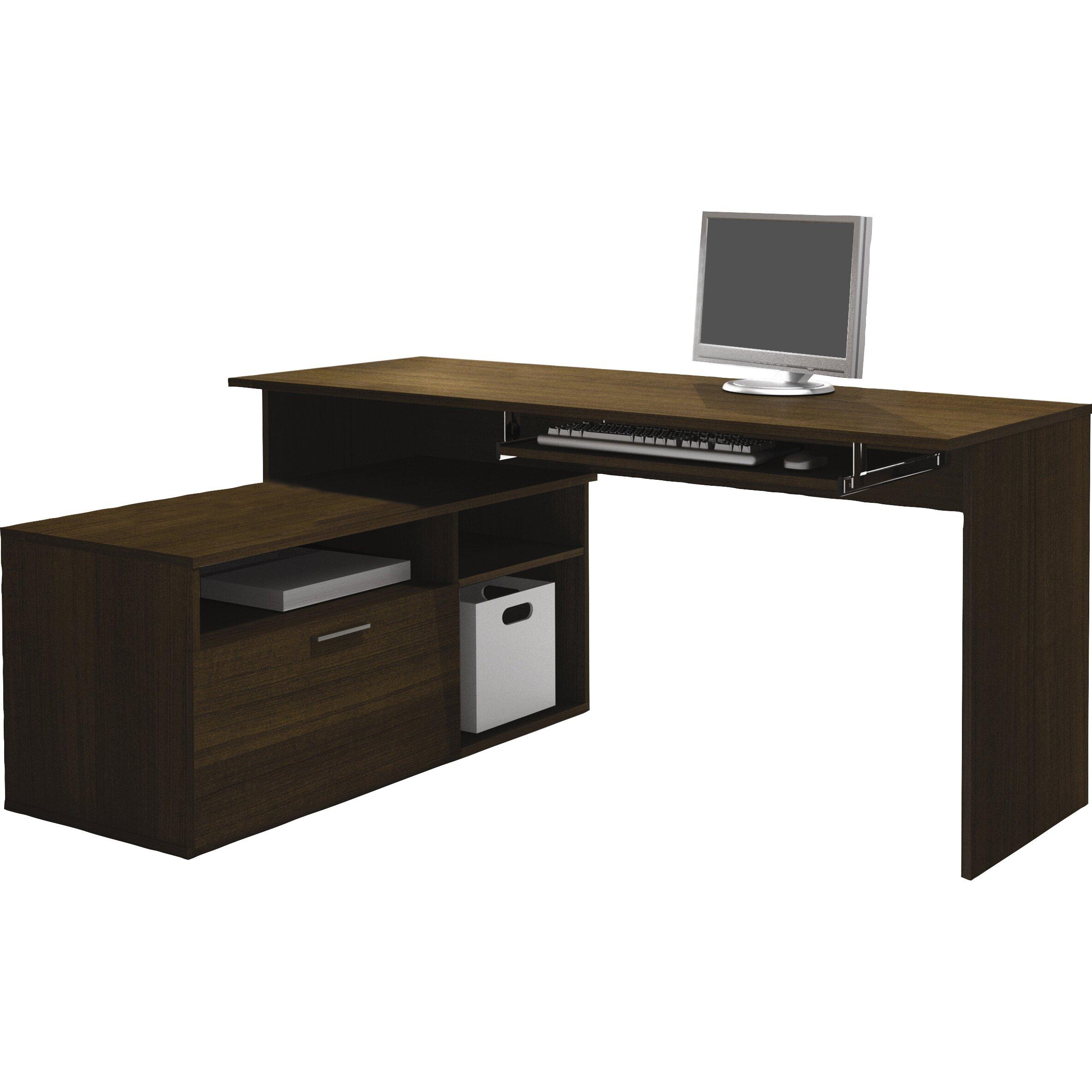 Bestar Modula L-Shape Computer Desk & Reviews | Wayfair