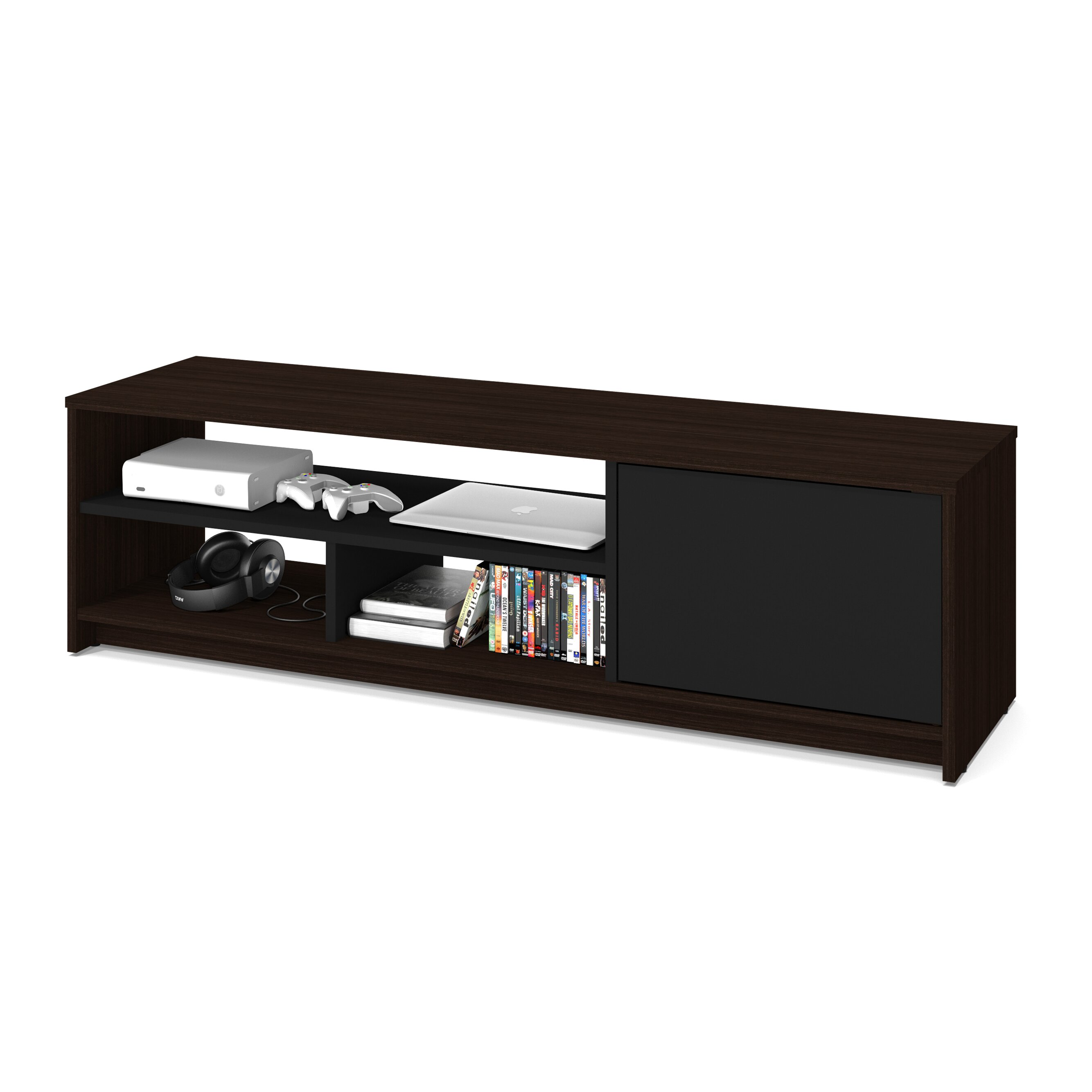 bestar small space 2 piece storage coffee table and tv stand set. Black Bedroom Furniture Sets. Home Design Ideas