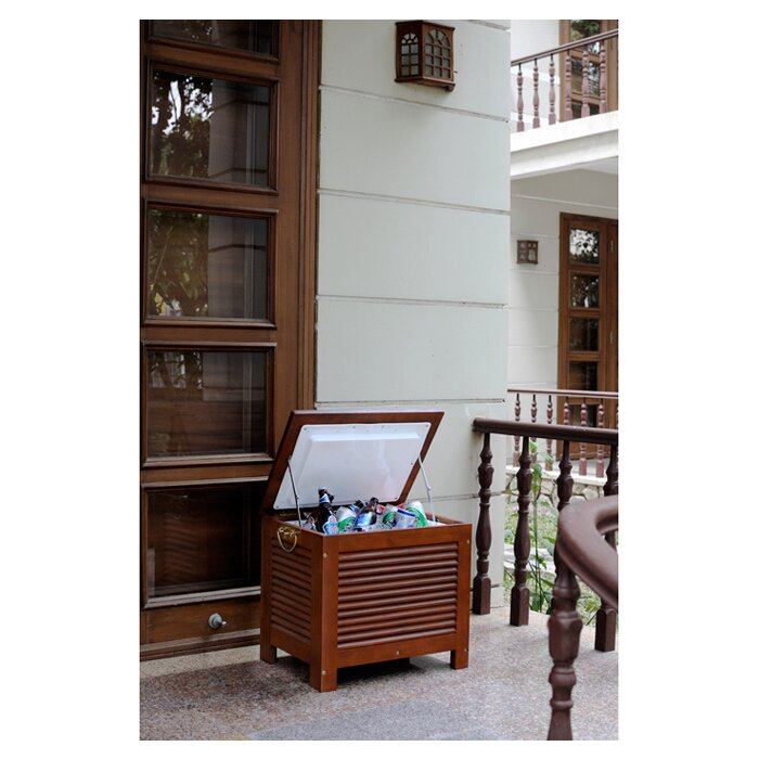 Merry Products 54.9 Qt. Outdoor Wooden Patio Cooler - Merry Products 54.9 Qt. Outdoor Wooden Patio Cooler & Reviews