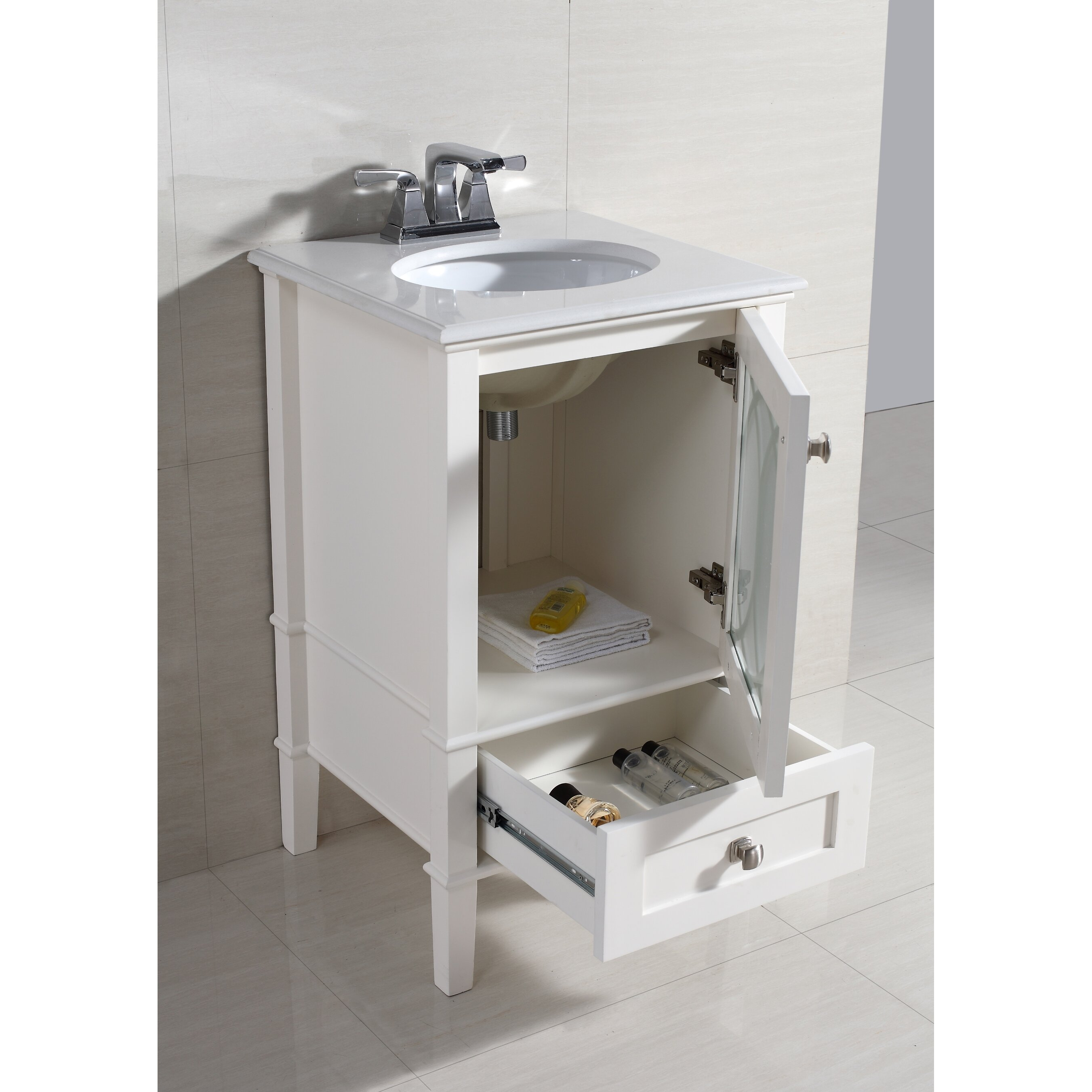 100 24 in bathroom vanity with sink bathroom vanities joss for Bathroom design kingston
