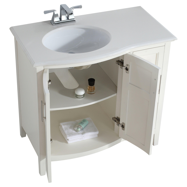 simpli home winston 37 single rounded front bath vanity set