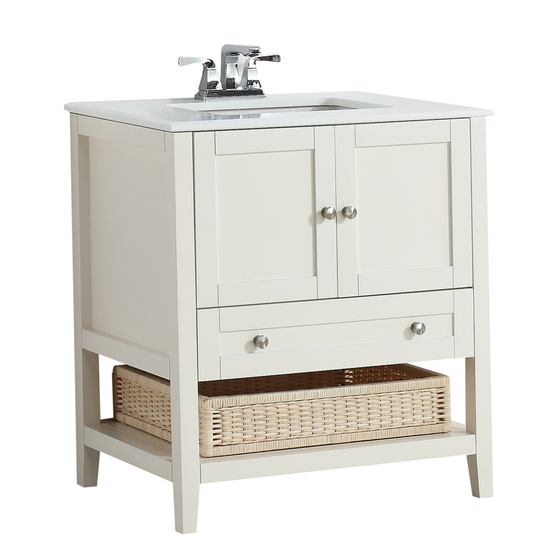 Bathroom Vanity Set Simpli Home Cape Cod 31 Single Bathroom Vanity Set Reviews