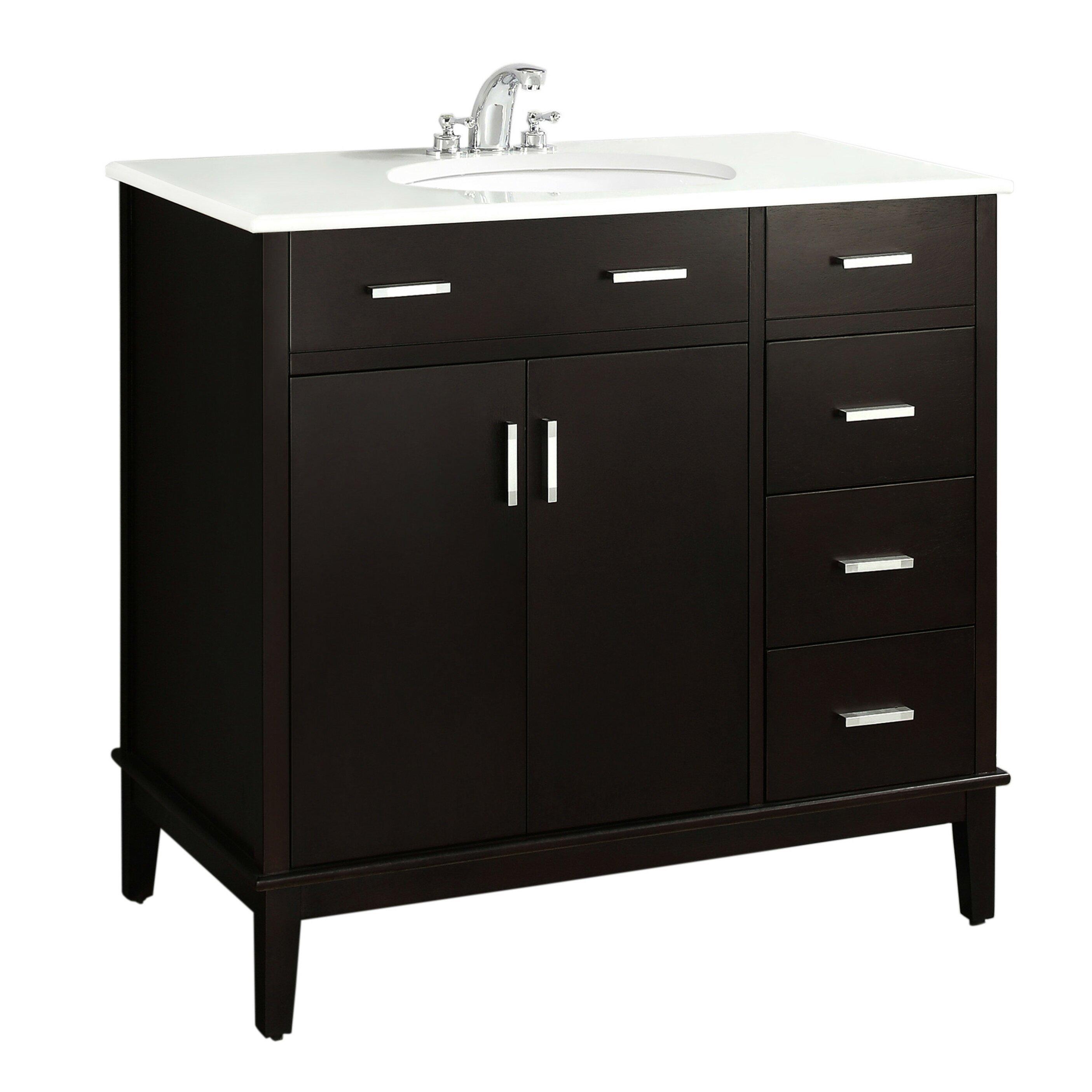 Simpli Home Urban Loft 36 quot  Single Bathroom Vanity Set. Simpli Home Urban Loft 36  Single Bathroom Vanity Set   Reviews