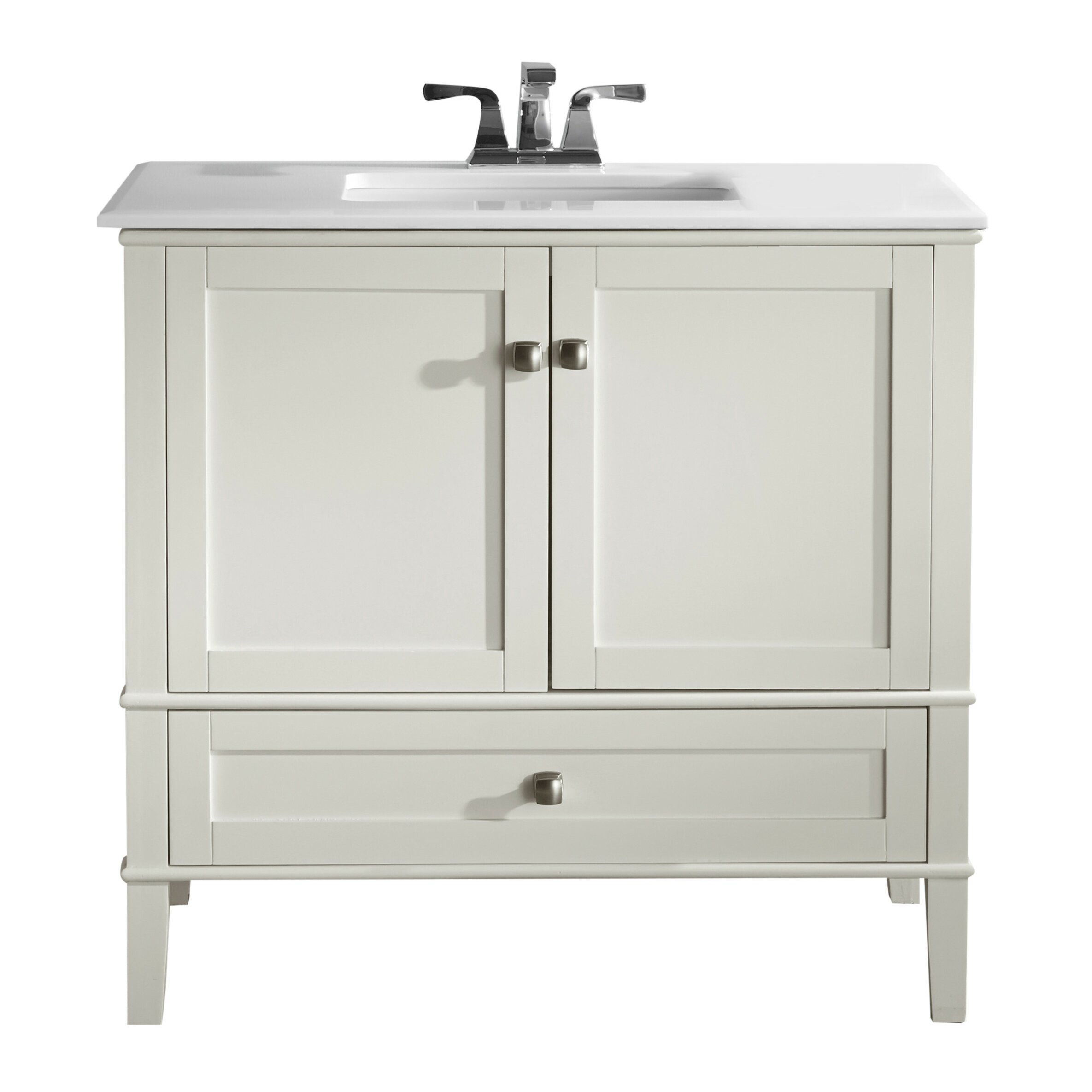 "simpli home chelsea "" single bathroom vanity set  reviews  wayfair, Bathroom decor"