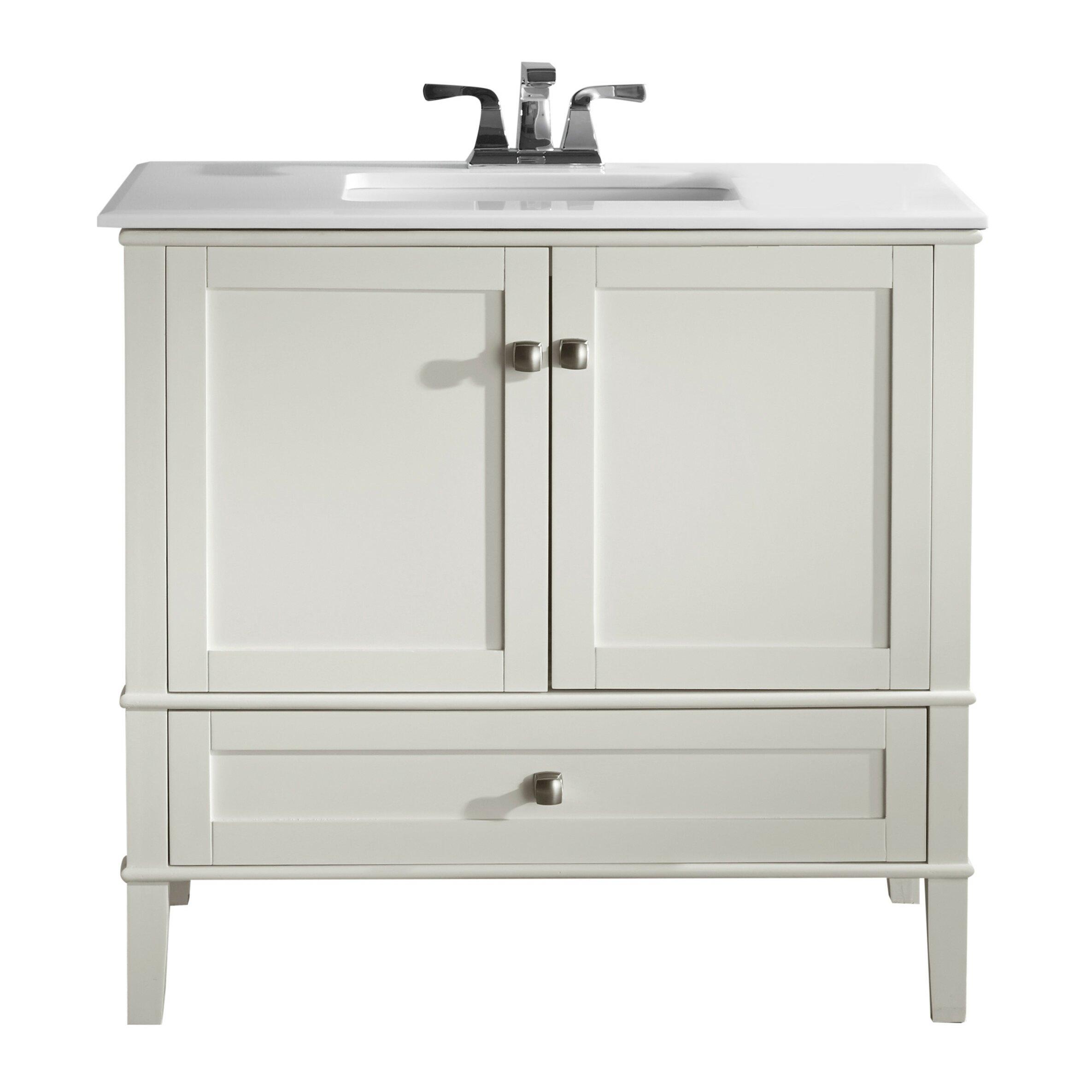 Simpli Home Chelsea 36 quot  Single Bathroom Vanity. Simpli Home Chelsea 36  Single Bathroom Vanity   Reviews   Wayfair