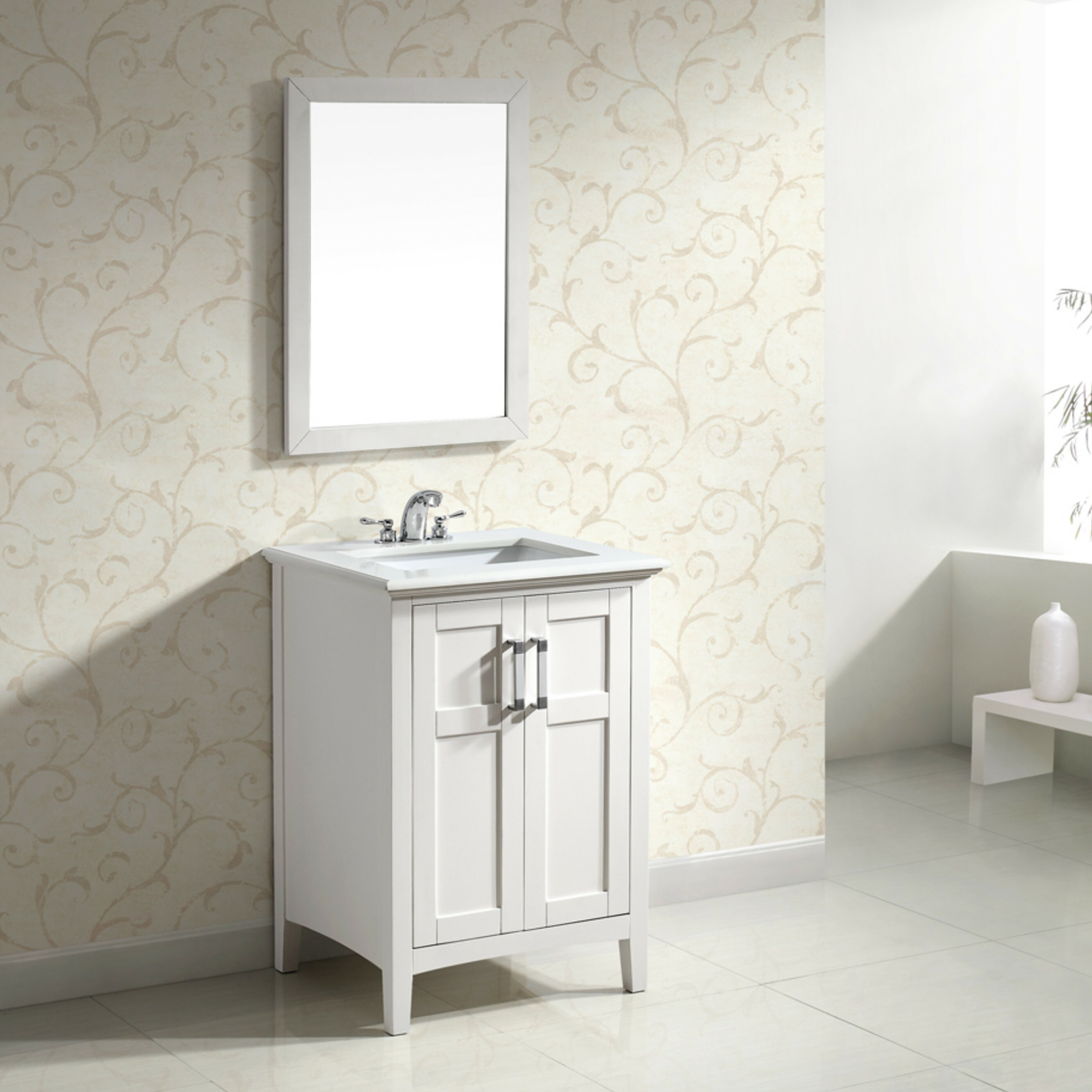 Bathroom single vanity - Simpli Home Winston 24 Quot Single Bathroom Vanity Set