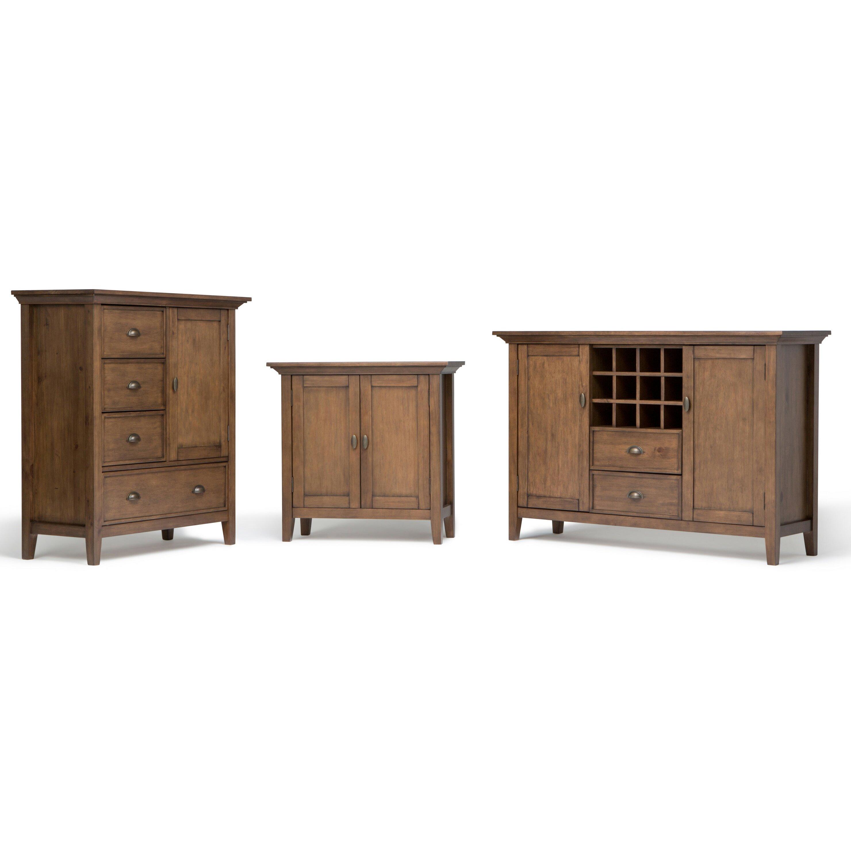 Low Storage Cabinet Simpli Home Redmond 2 Door Low Storage Cabinet Wayfair