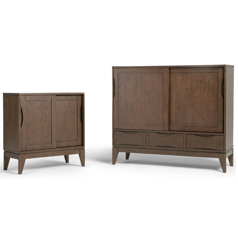 Low Storage Cabinet Simpli Home Harper Low Storage 2 Door Cabinet Reviews Wayfair