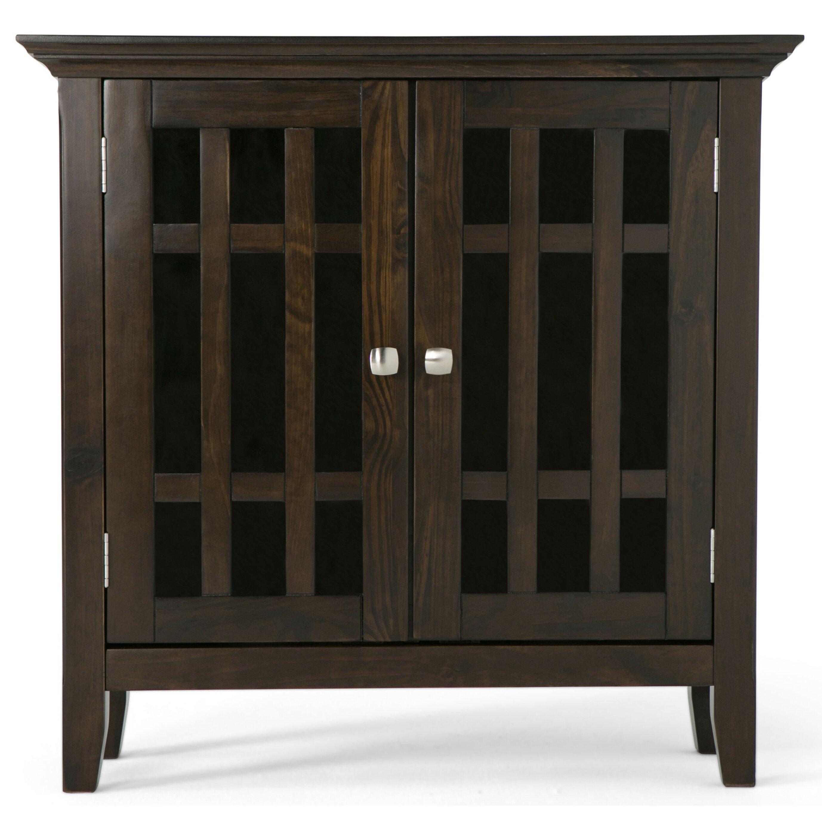 Low Storage Cabinet Simpli Home Bedford Low Storage Media Cabinet Reviews Wayfair