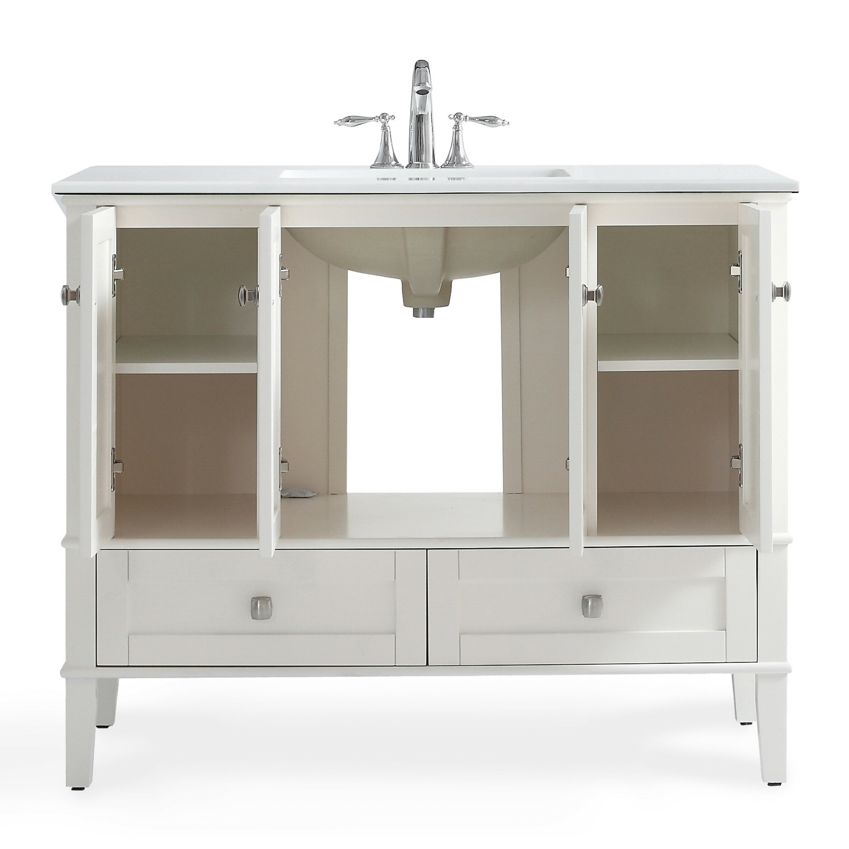 42 Bathroom Vanity Oberlin 42 Single Bathroom Vanity With Quartz Marble Top