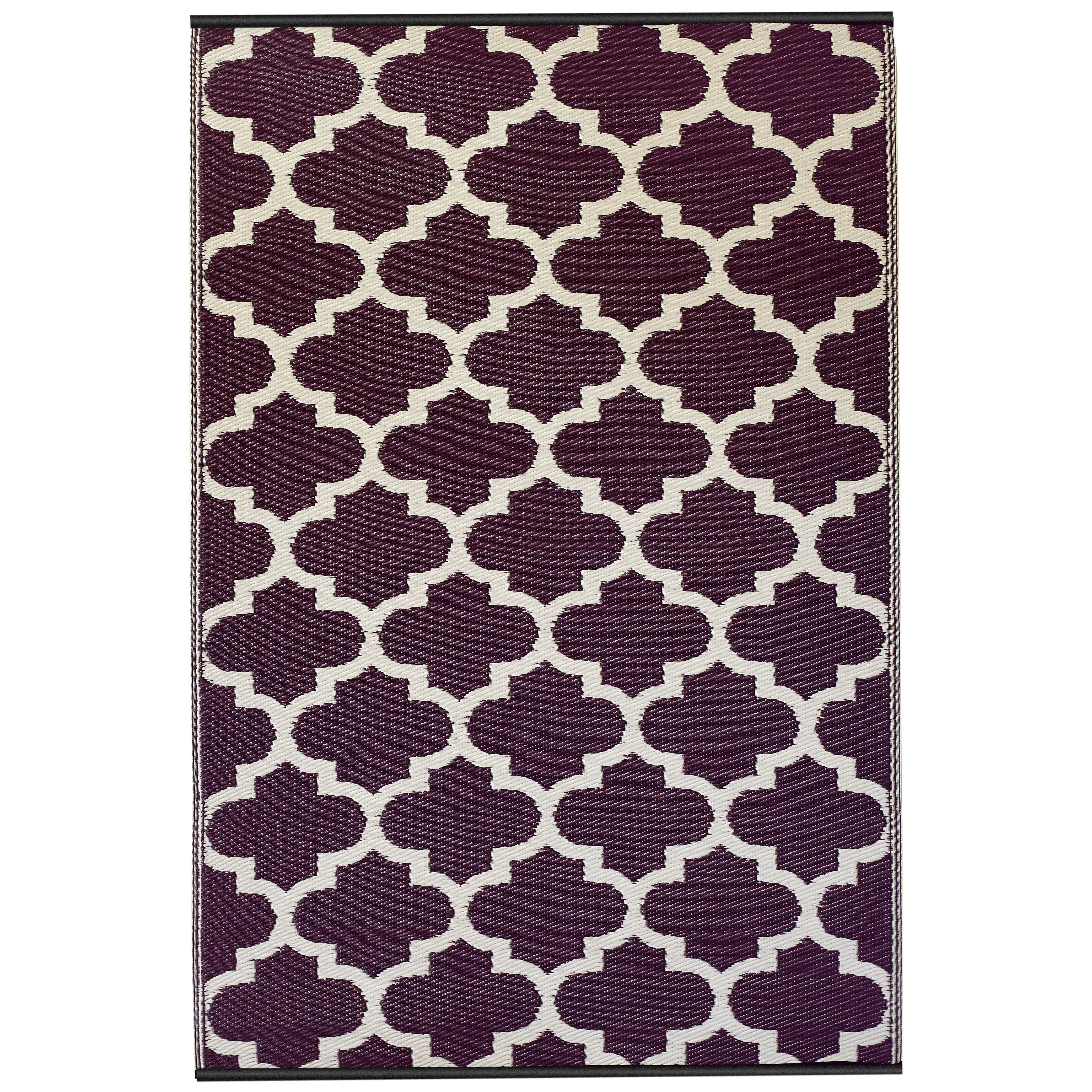 fab habitat world tangier purple white area rug