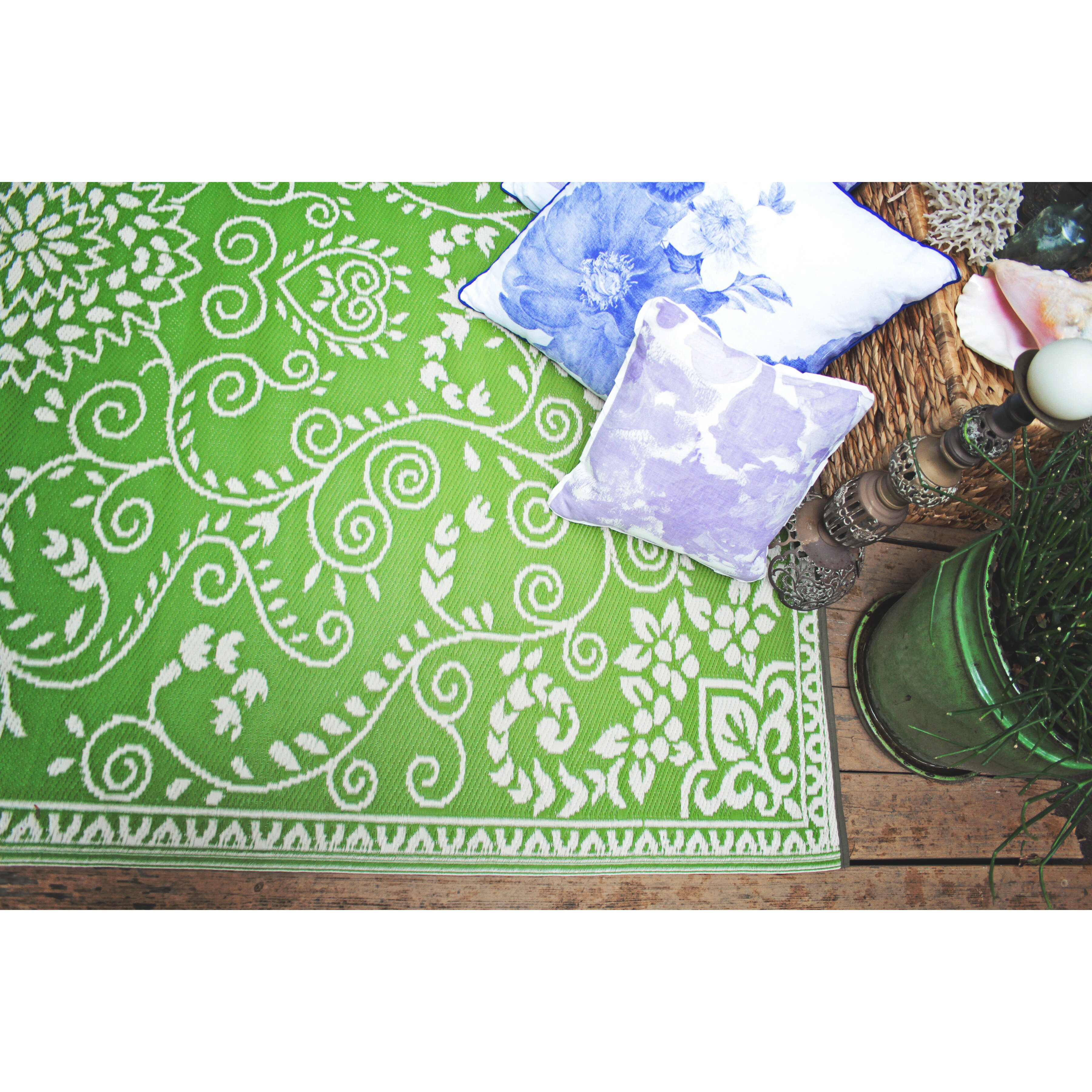 Lime Green Outdoor Area Rug
