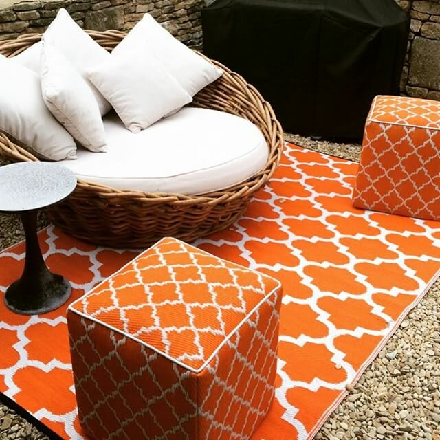 fab habitat tangier carrot world outdoor plastic area rug reviews wayfair. Black Bedroom Furniture Sets. Home Design Ideas