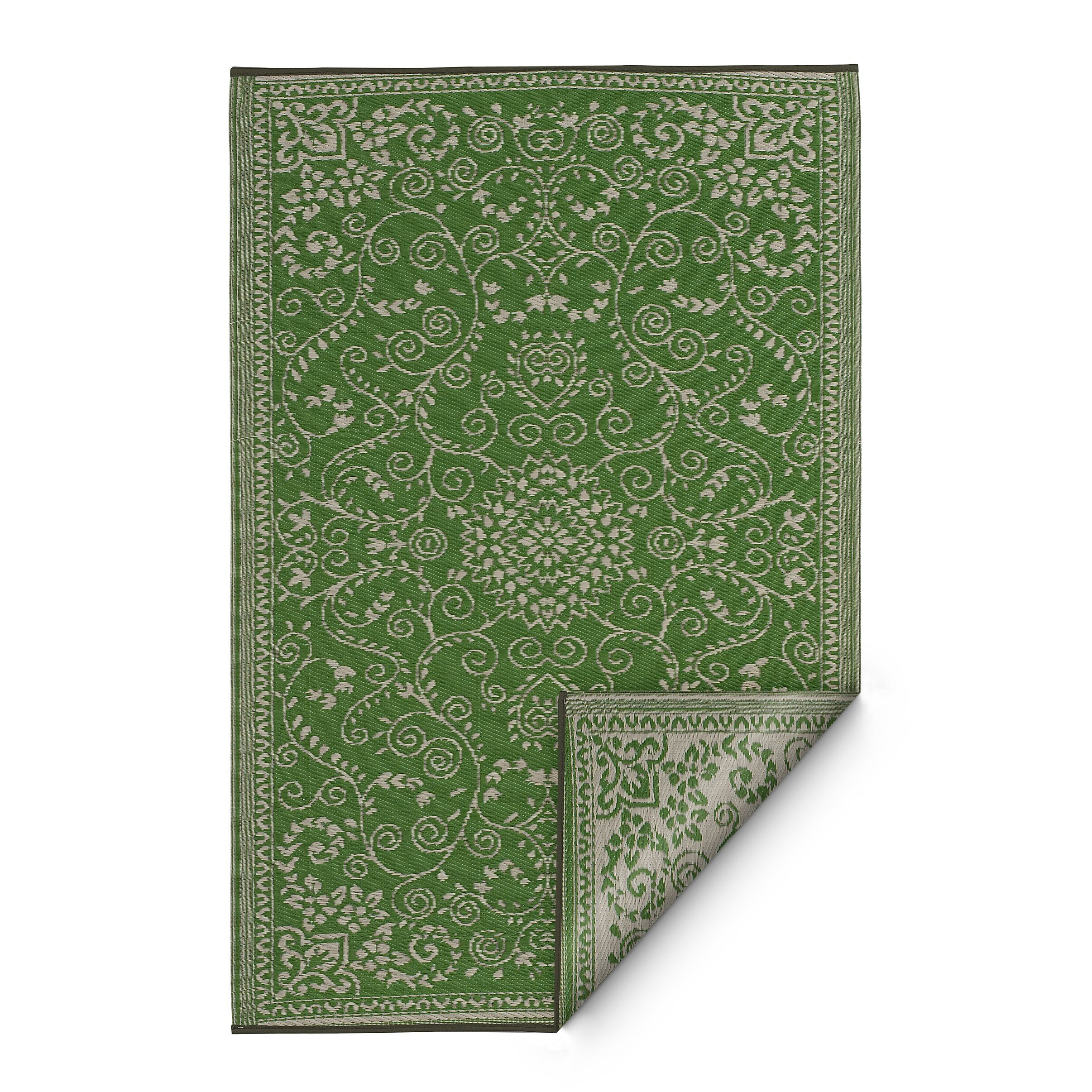 Lime Green Area Rug: Fab Habitat World Murano Lime Green Indoor/Outdoor Area