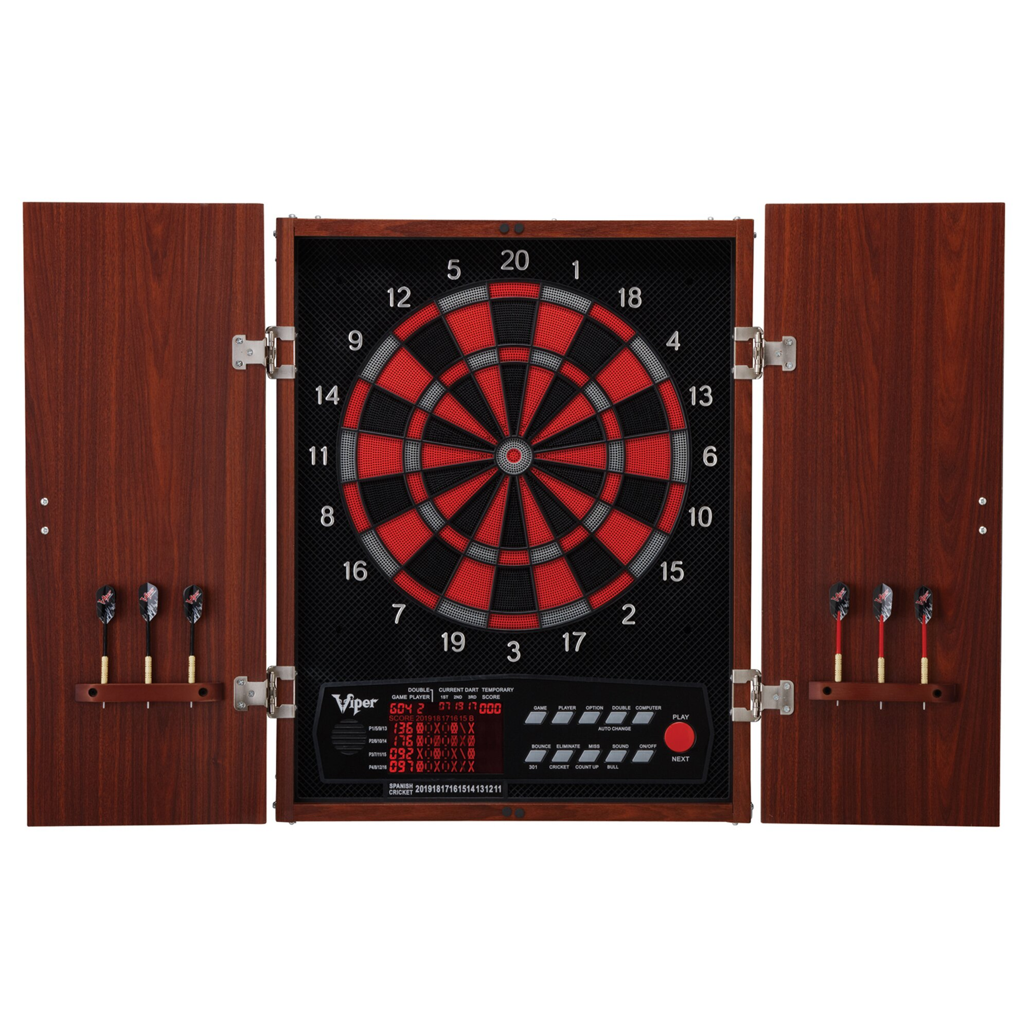 Dart Board Cabinet With Chalkboard Gld Products Viper Neptune Electronic Dartboard Reviews Wayfair