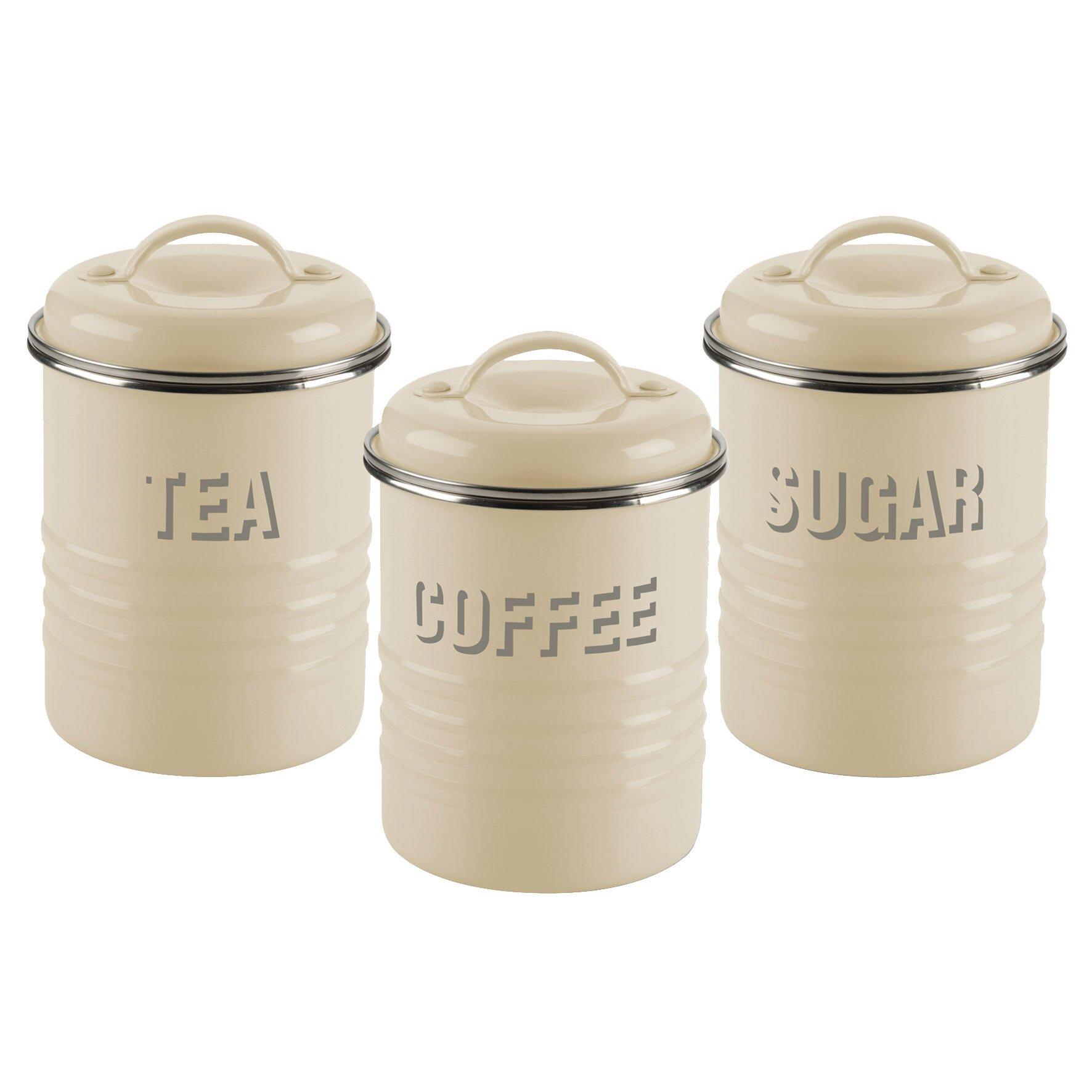 2 Piece Retro Kitchen Typhoon Vintage Kitchen 3 Piece Storage Container Set Reviews