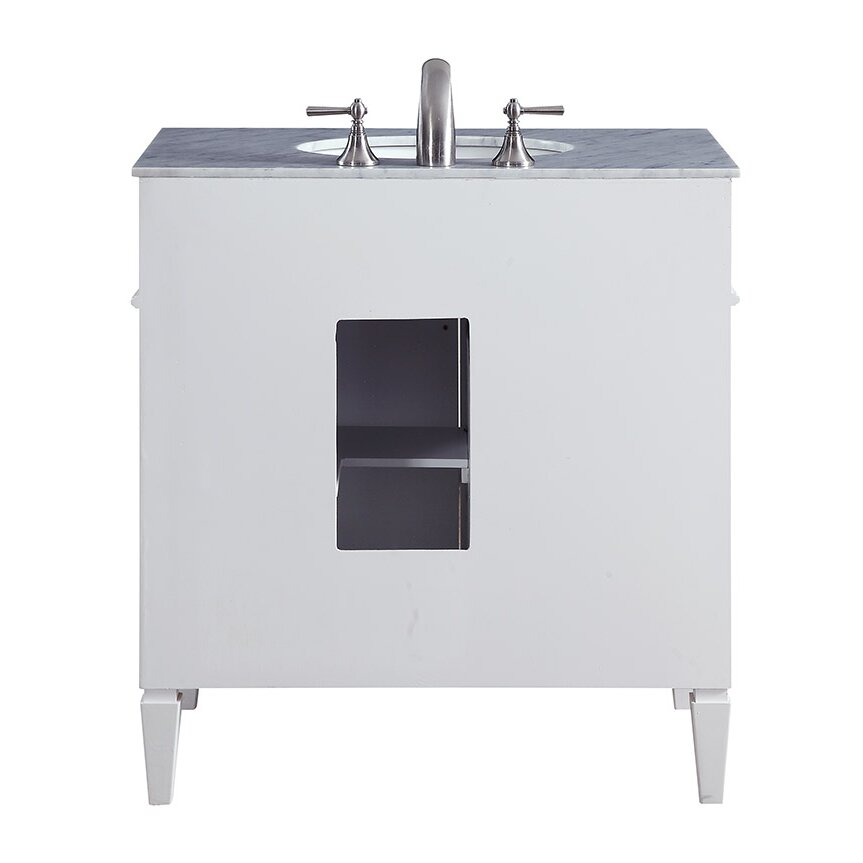 "elegant lighting park ave 32"" single bathroom vanity set & reviews"